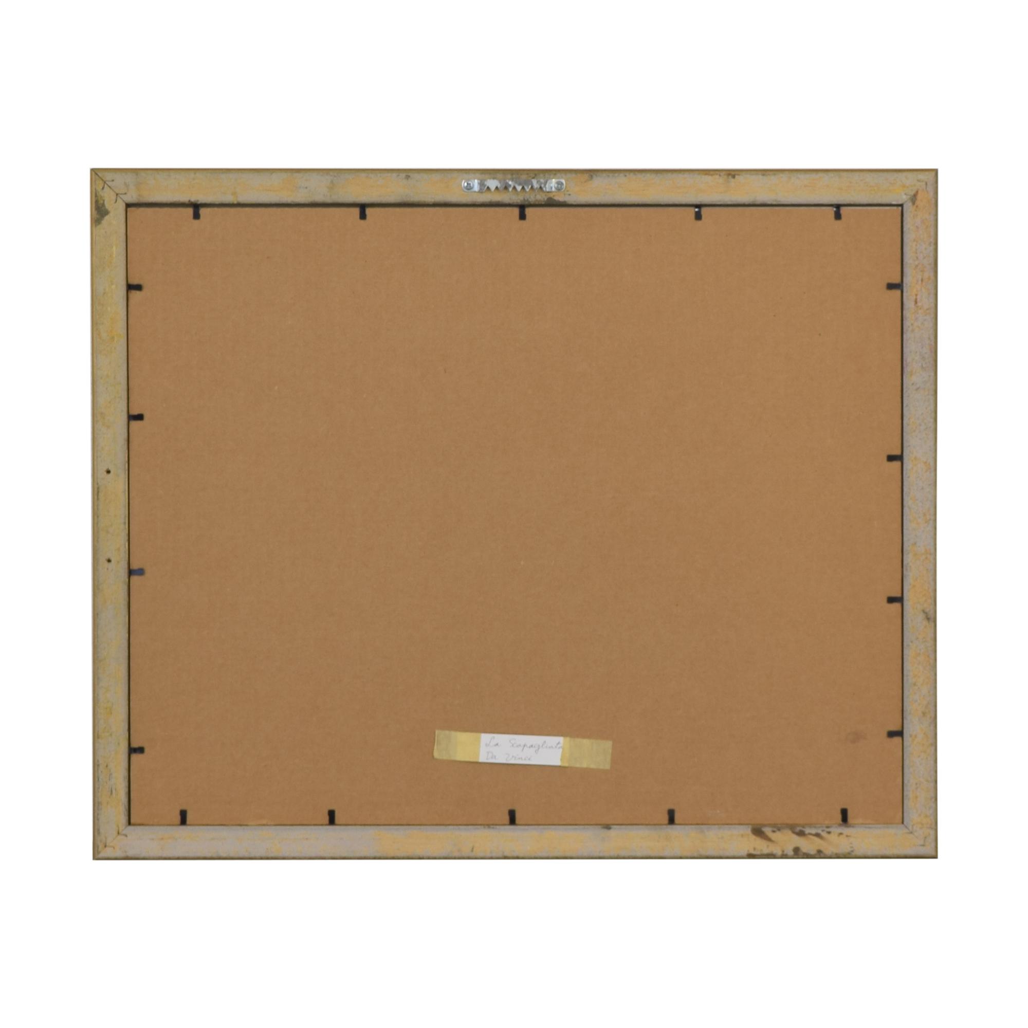 buy Framed La Scapaliata Da Vinci Wall Art