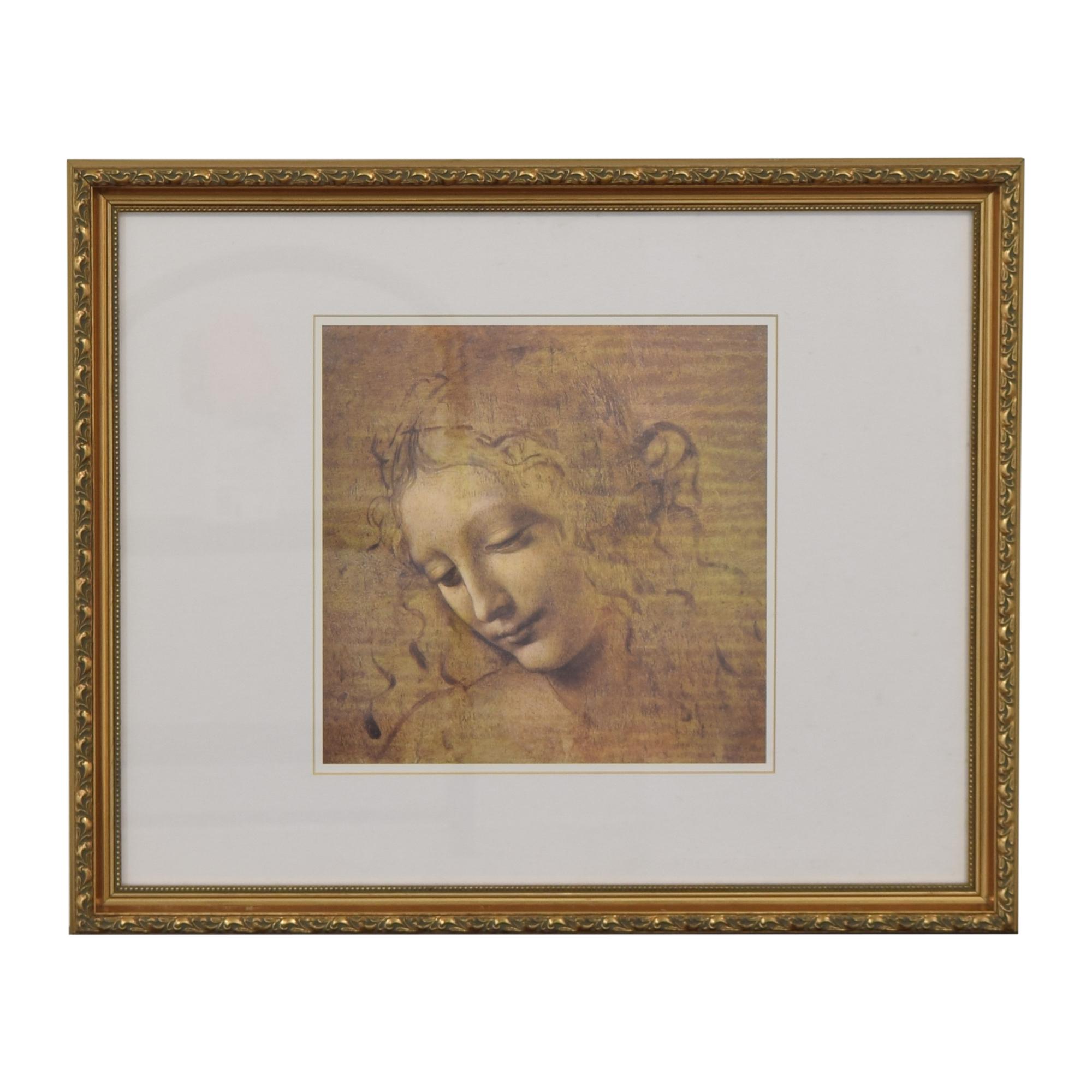 Framed La Scapaliata Da Vinci Wall Art second hand