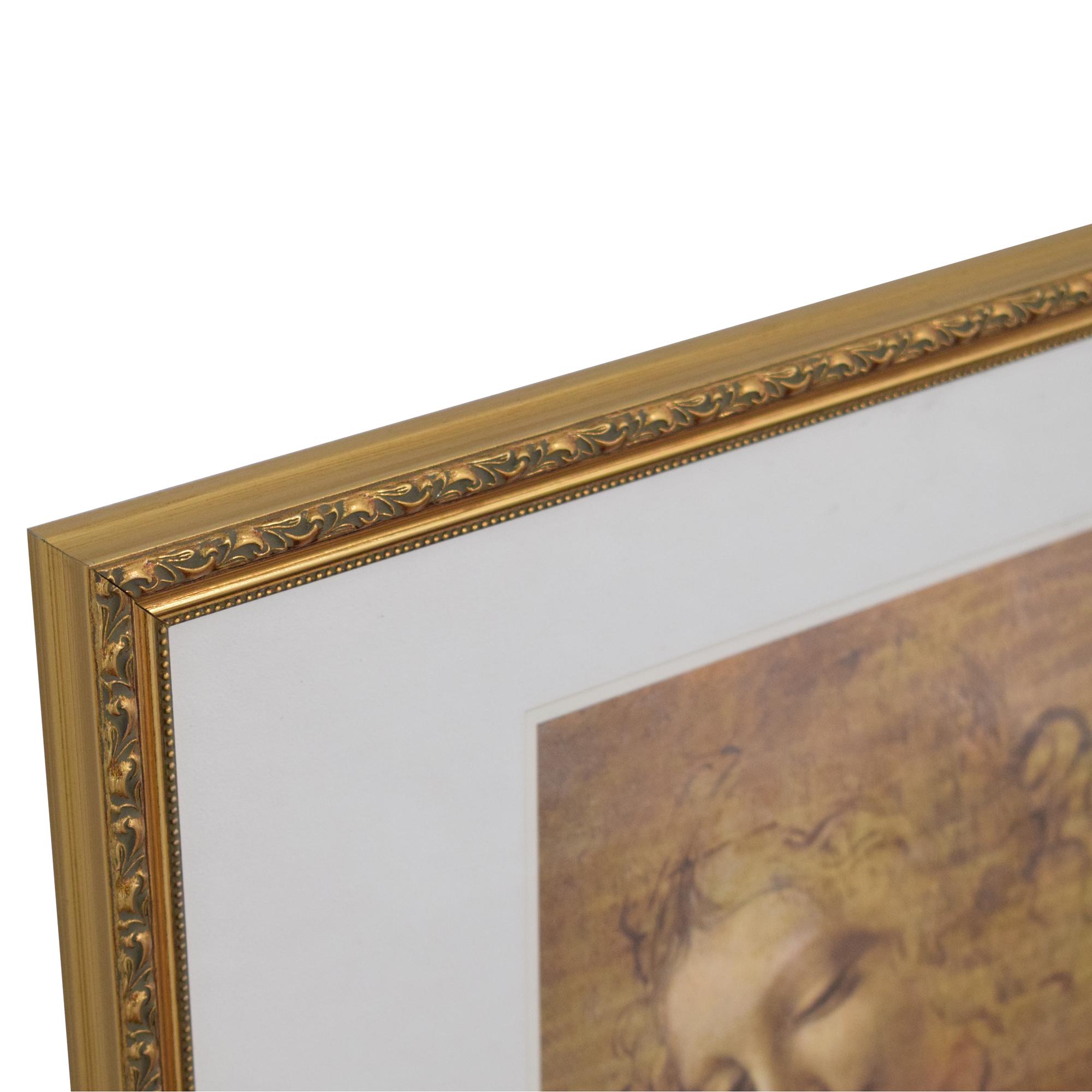 Framed La Scapaliata Da Vinci Wall Art coupon