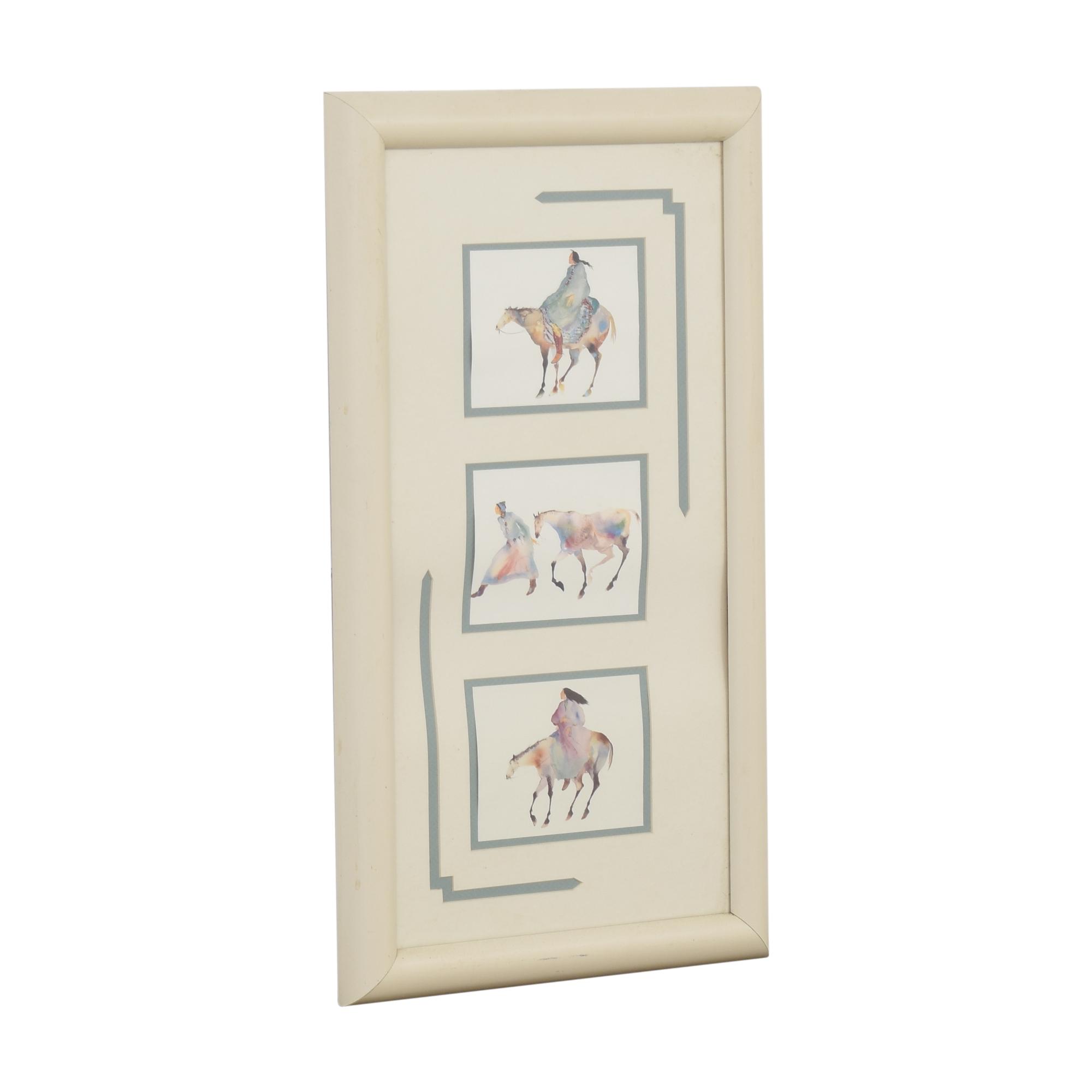 Framed Equestrian Wall Art sale