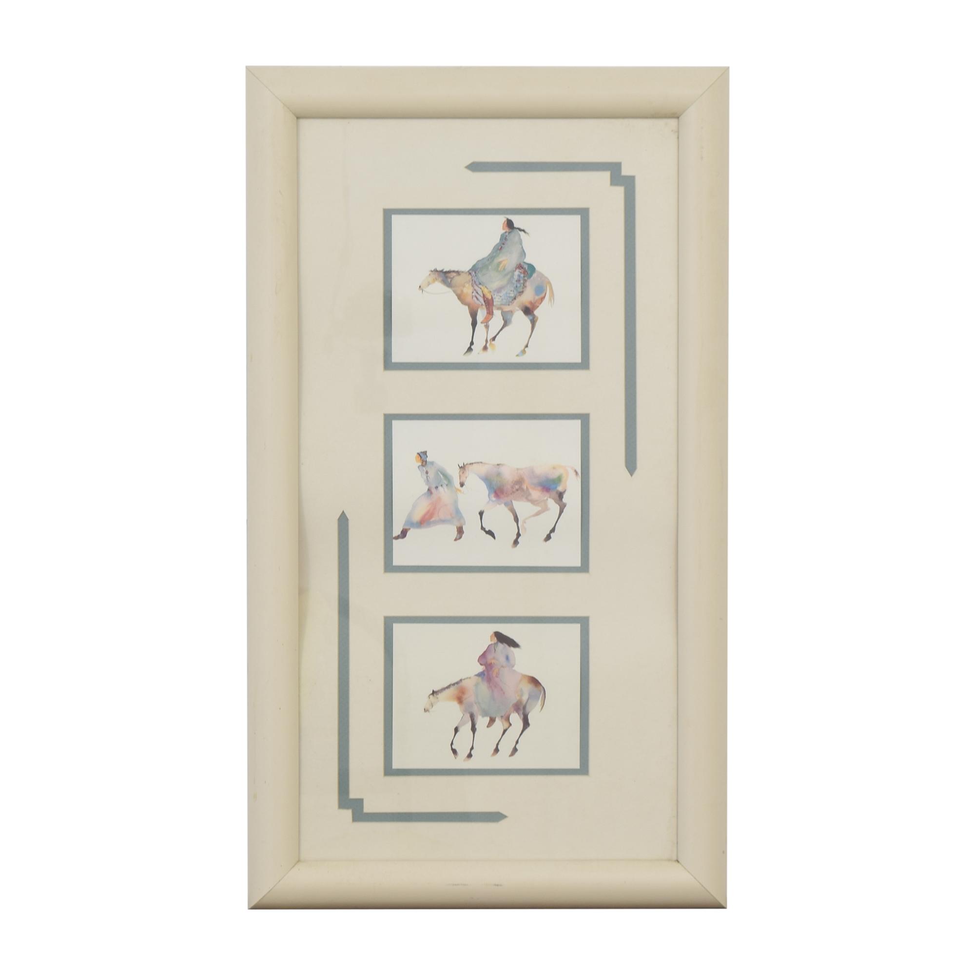 Framed Equestrian Wall Art dimensions