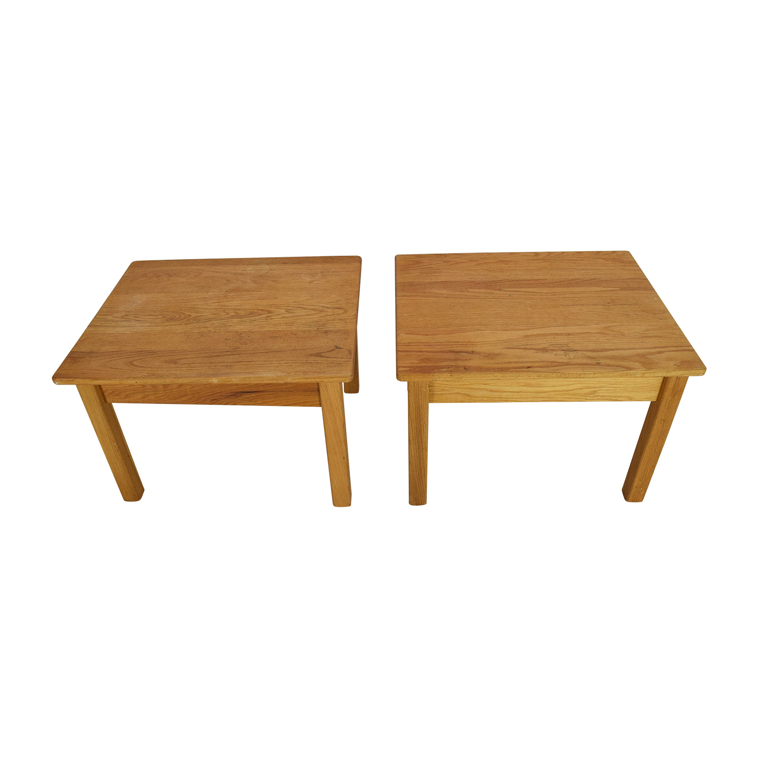 buy Natural Wood Twin End Tables Unknown Brand