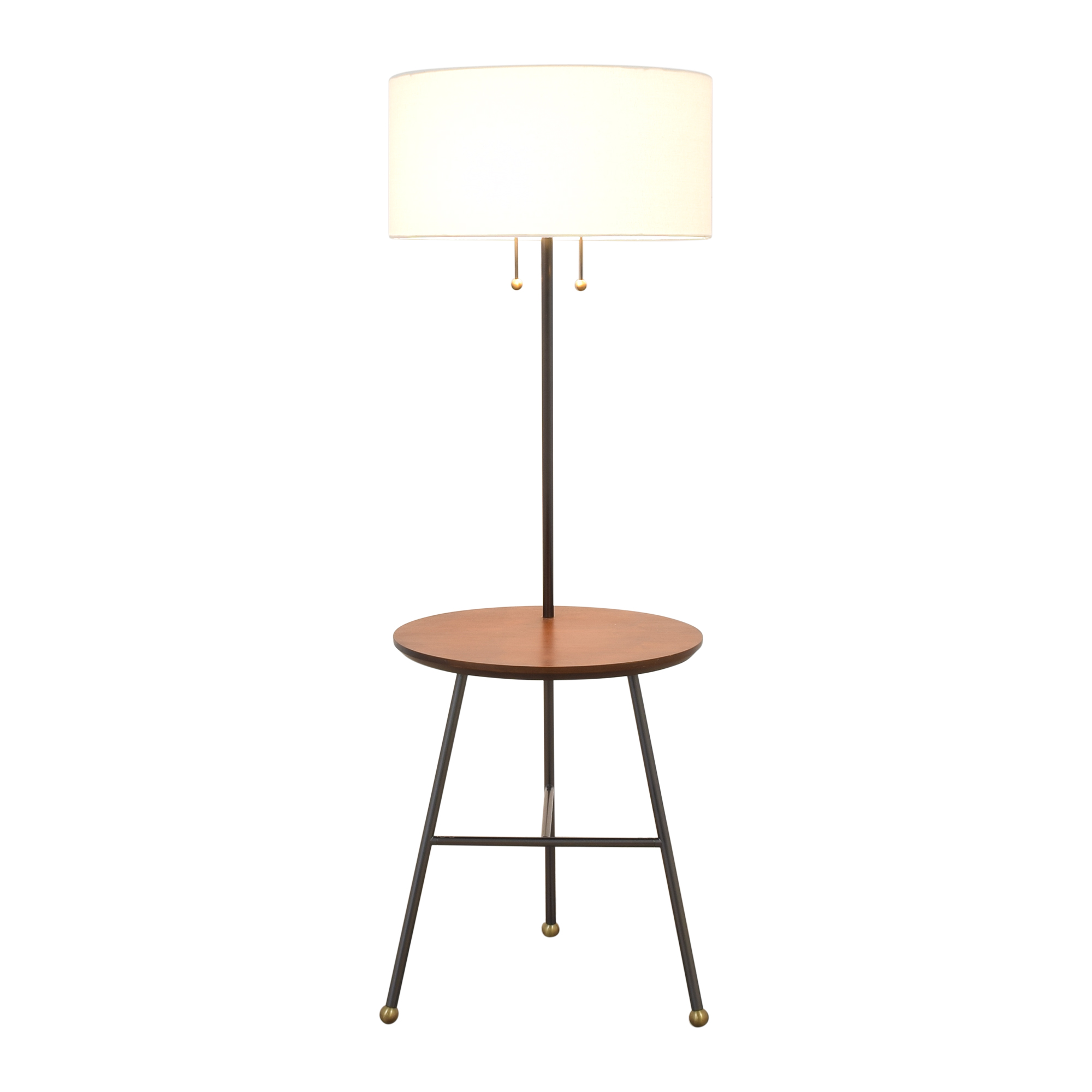 West Elm Duo Side Table Lamp / Decor