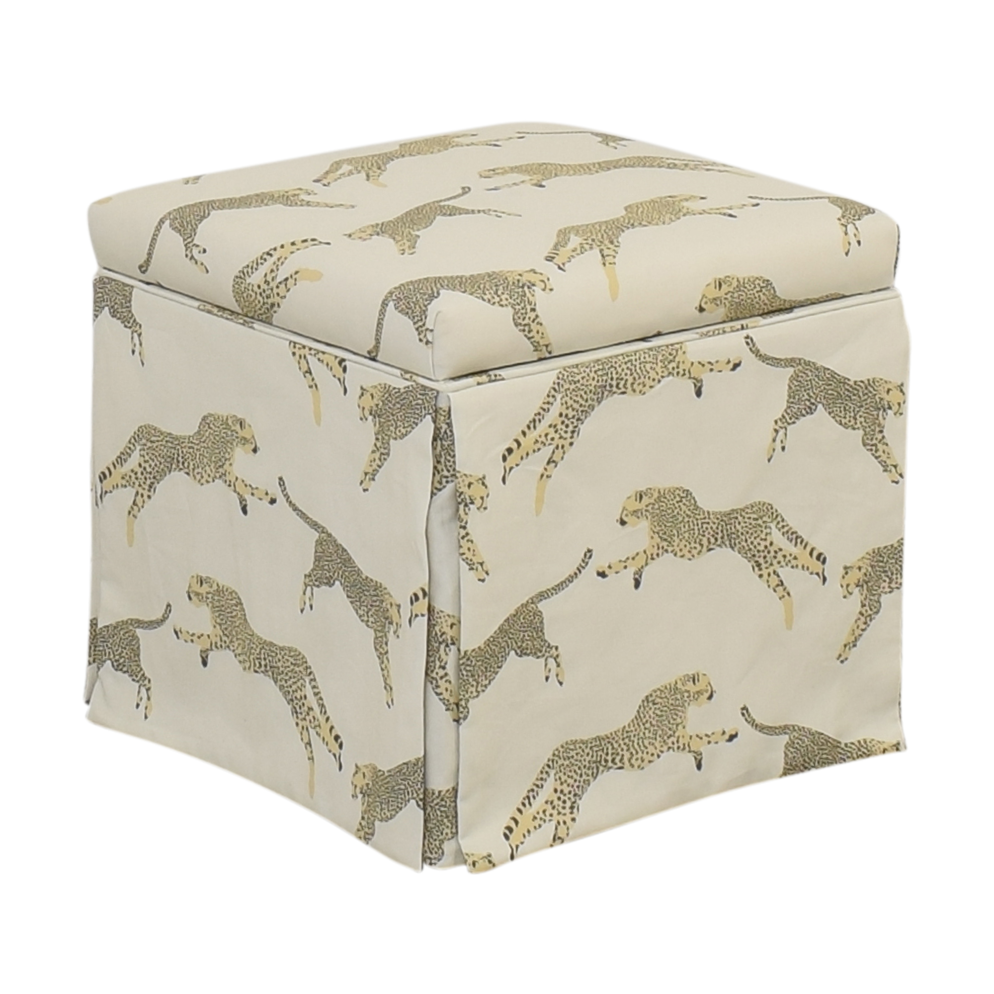 The Inside The Inside Skirted Storage Ottoman Ottomans