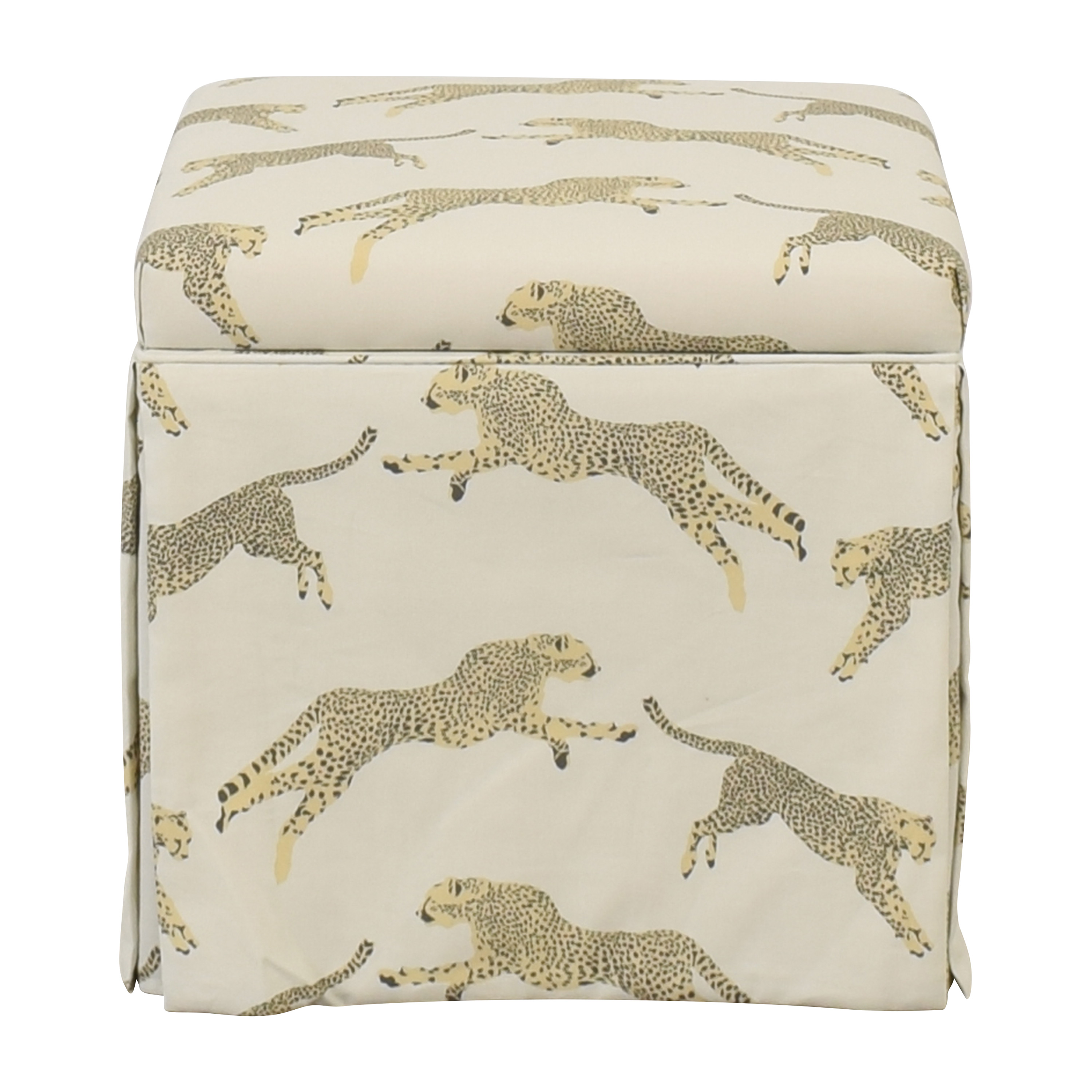 buy The Inside Skirted Storage Ottoman The Inside