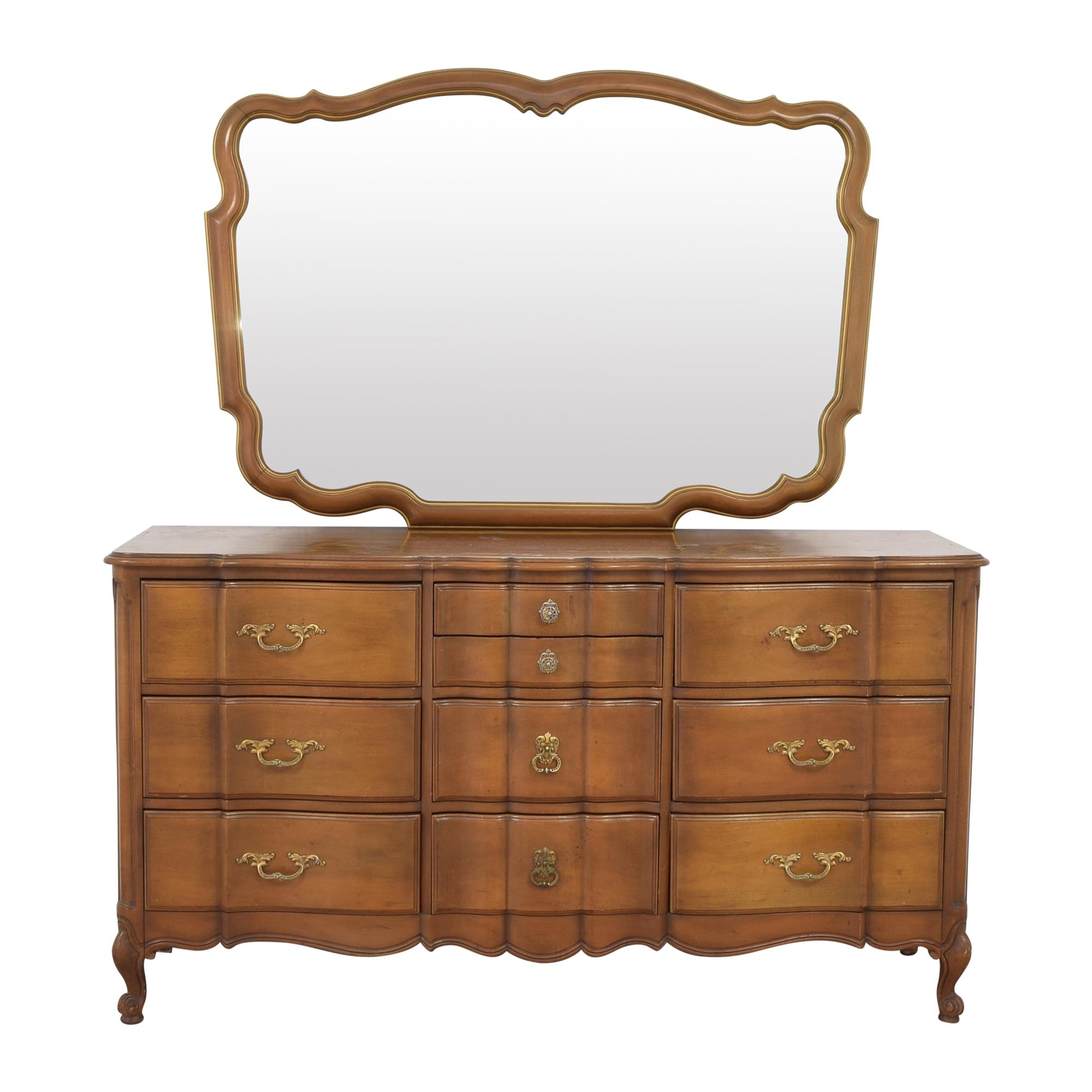 Orleans Collection Dresser with Mirror Storage