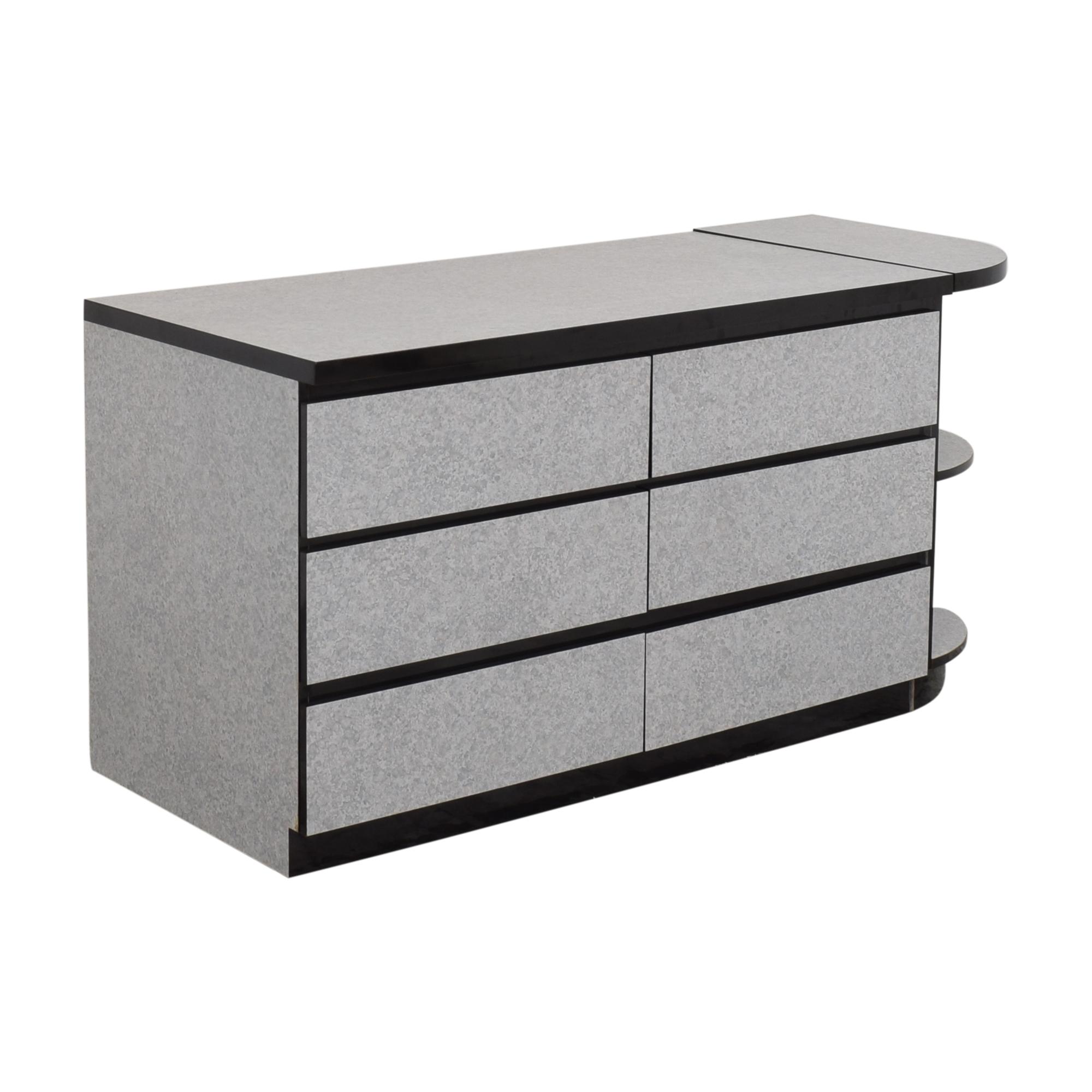 shop American Woodcrafters Six Drawer Dresser with Side Shelf American Woodcrafters