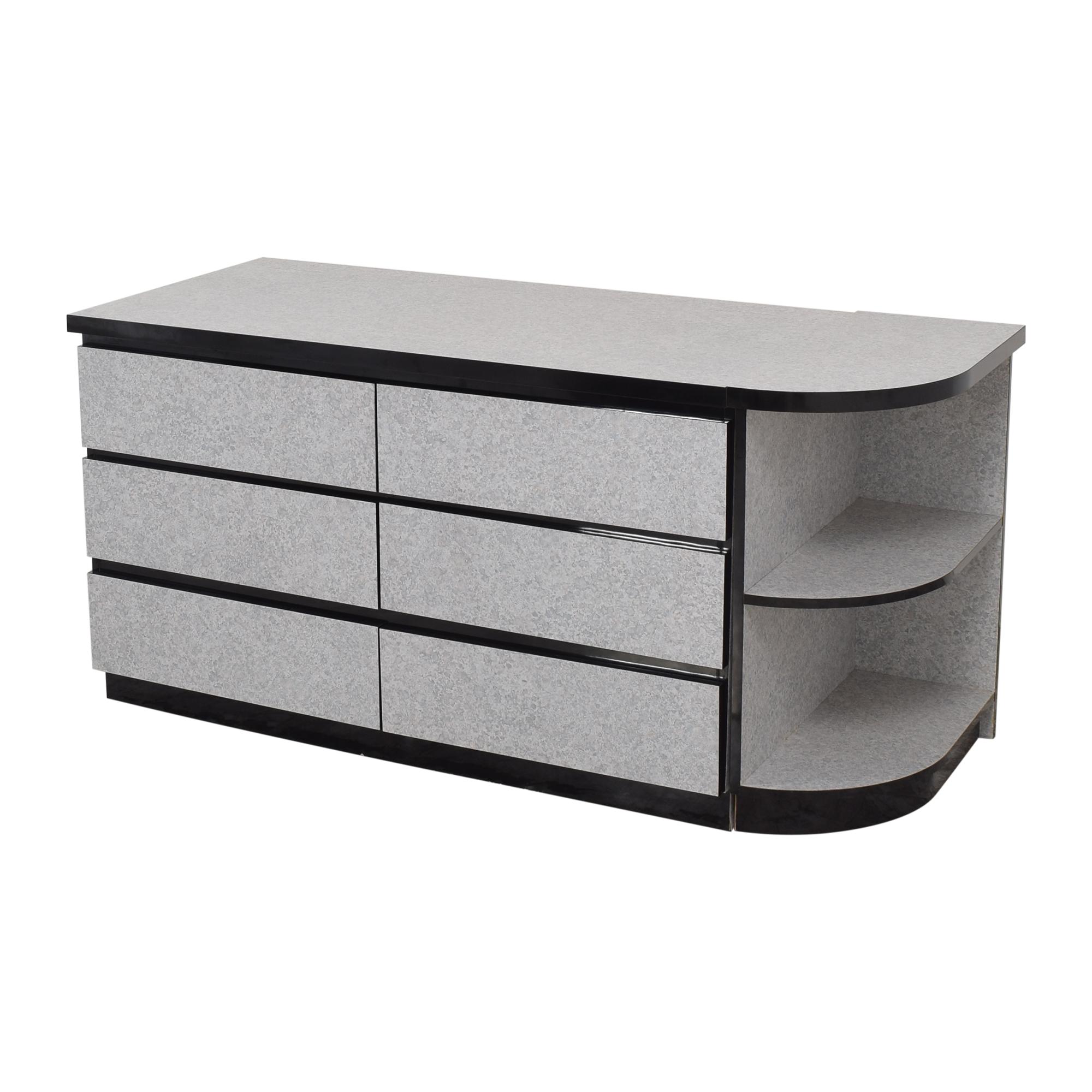 American Woodcrafters American Woodcrafters Six Drawer Dresser with Side Shelf Storage