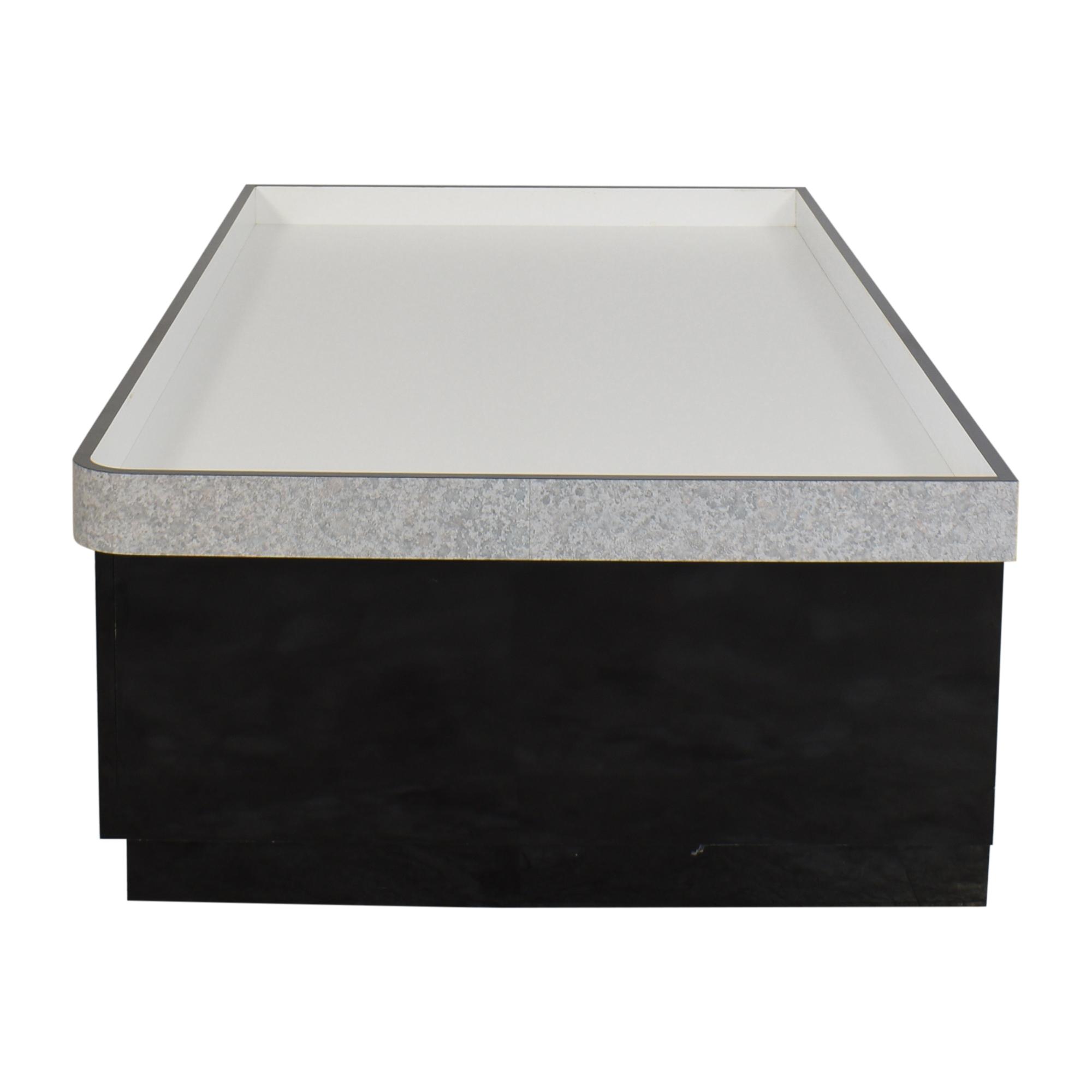 Custom Twin Size Platform Bed with Storage black & grey