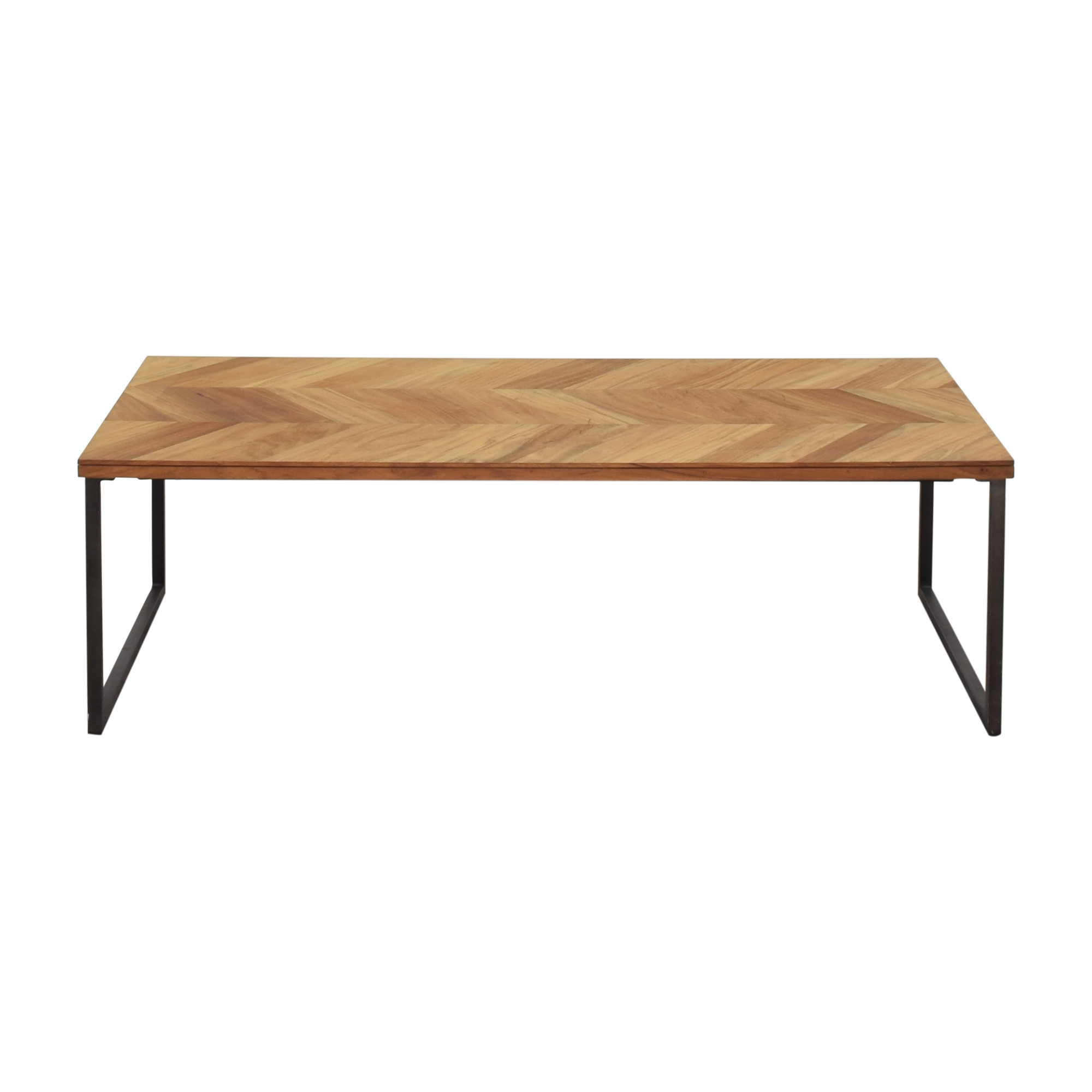 shop CB2 Chevron Coffee Table CB2 Coffee Tables