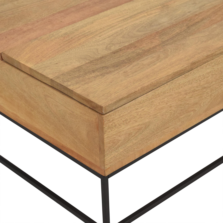 West Elm West Elm Industrial Storage Pop-Up Coffee Table nyc