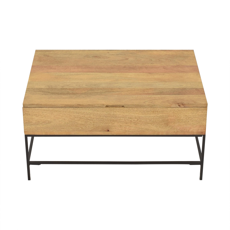 West Elm West Elm Industrial Storage Pop-Up Coffee Table ct