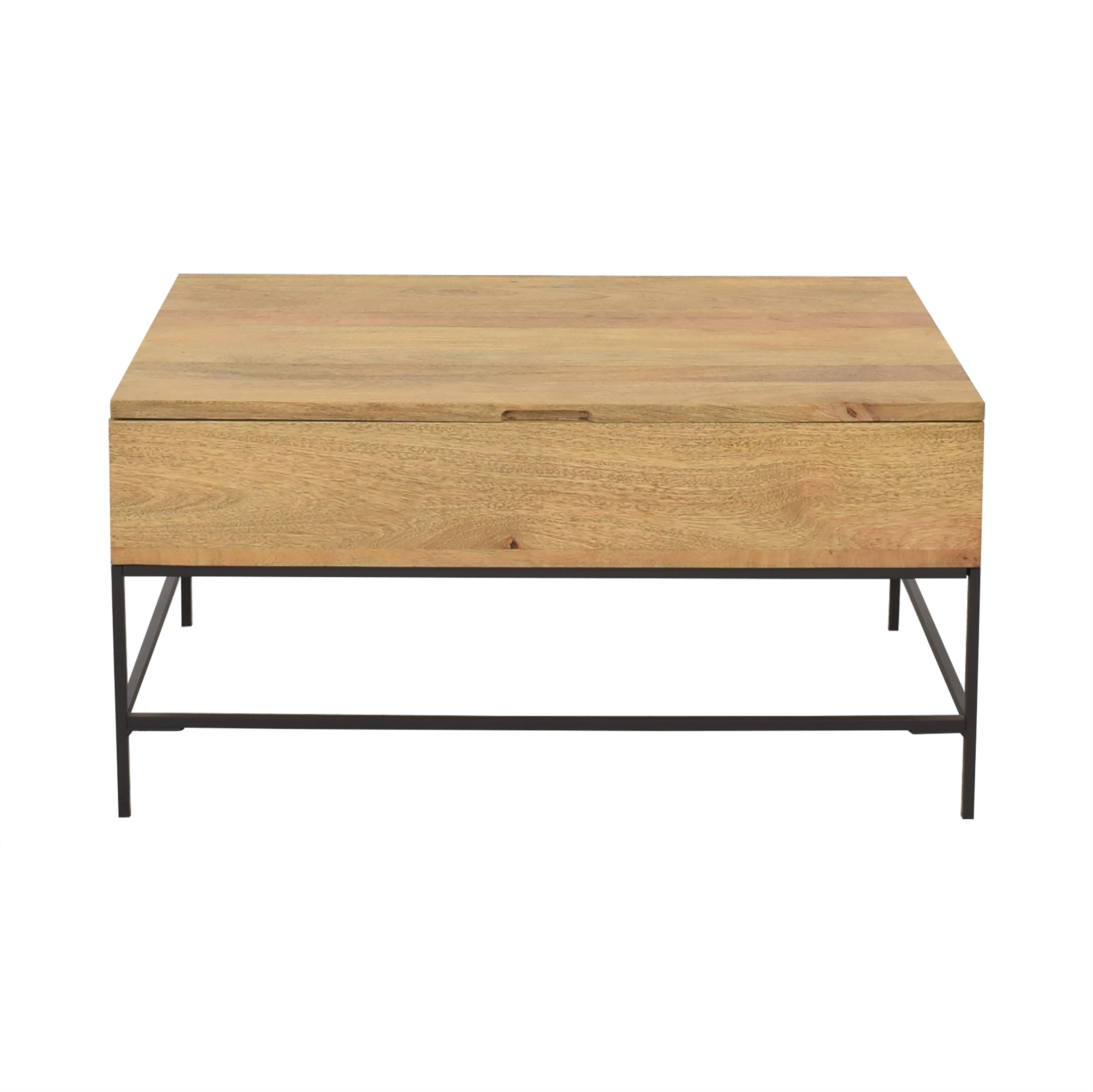 West Elm West Elm Industrial Storage Pop-Up Coffee Table ma