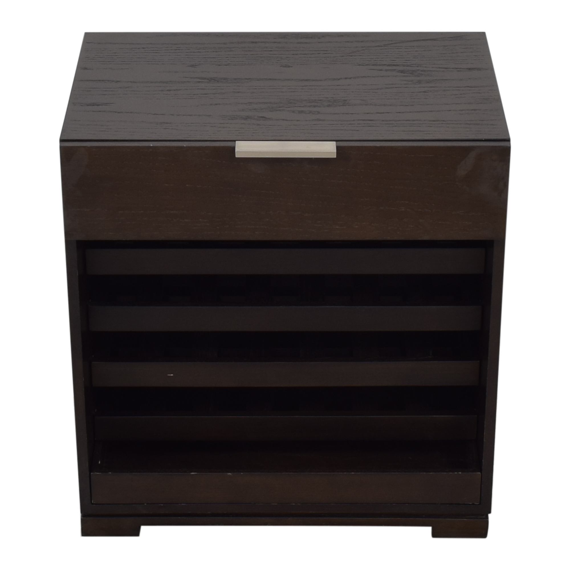 shop West Elm Wine Rack With Top Drawer West Elm Bookcases & Shelving