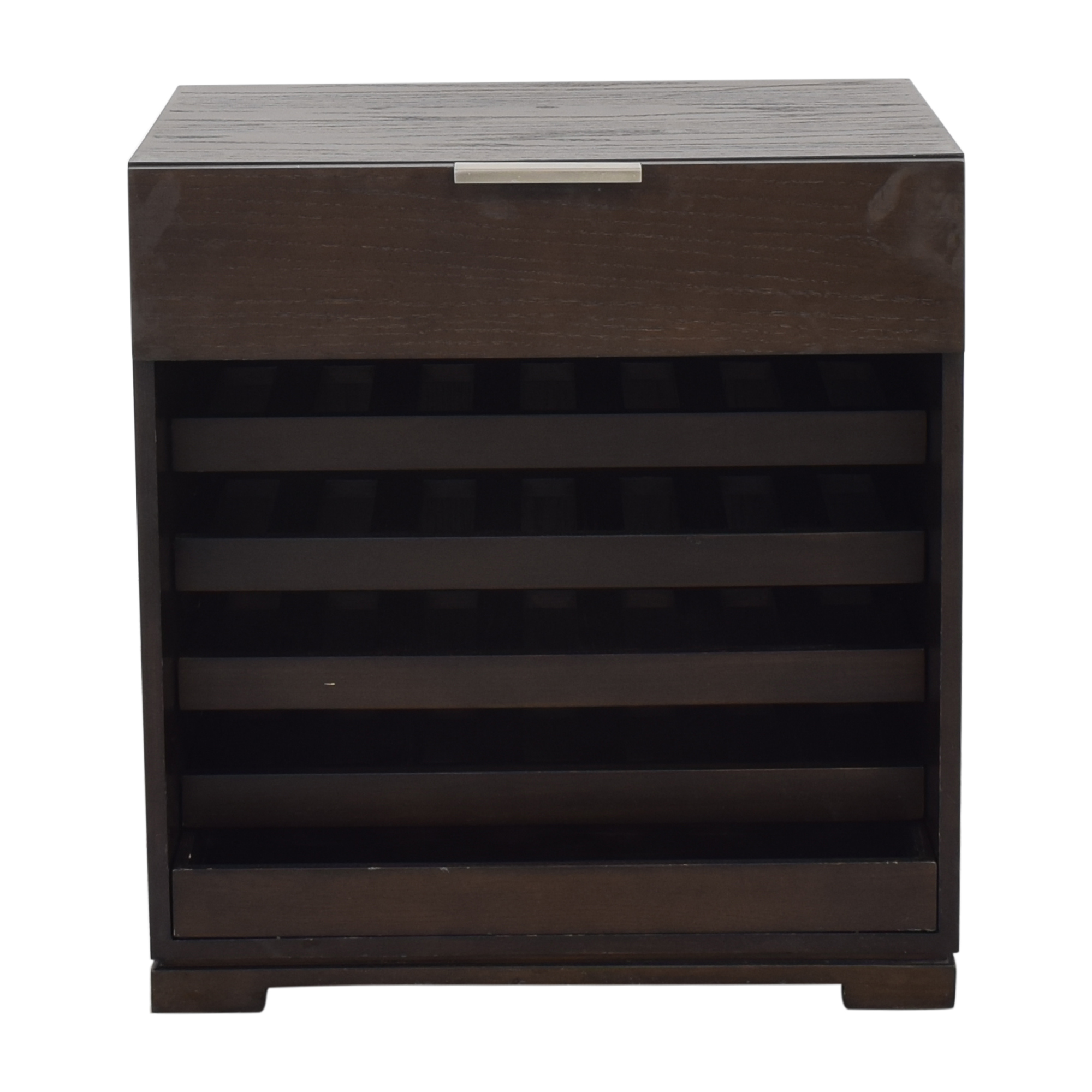 West Elm West Elm Wine Rack With Top Drawer coupon