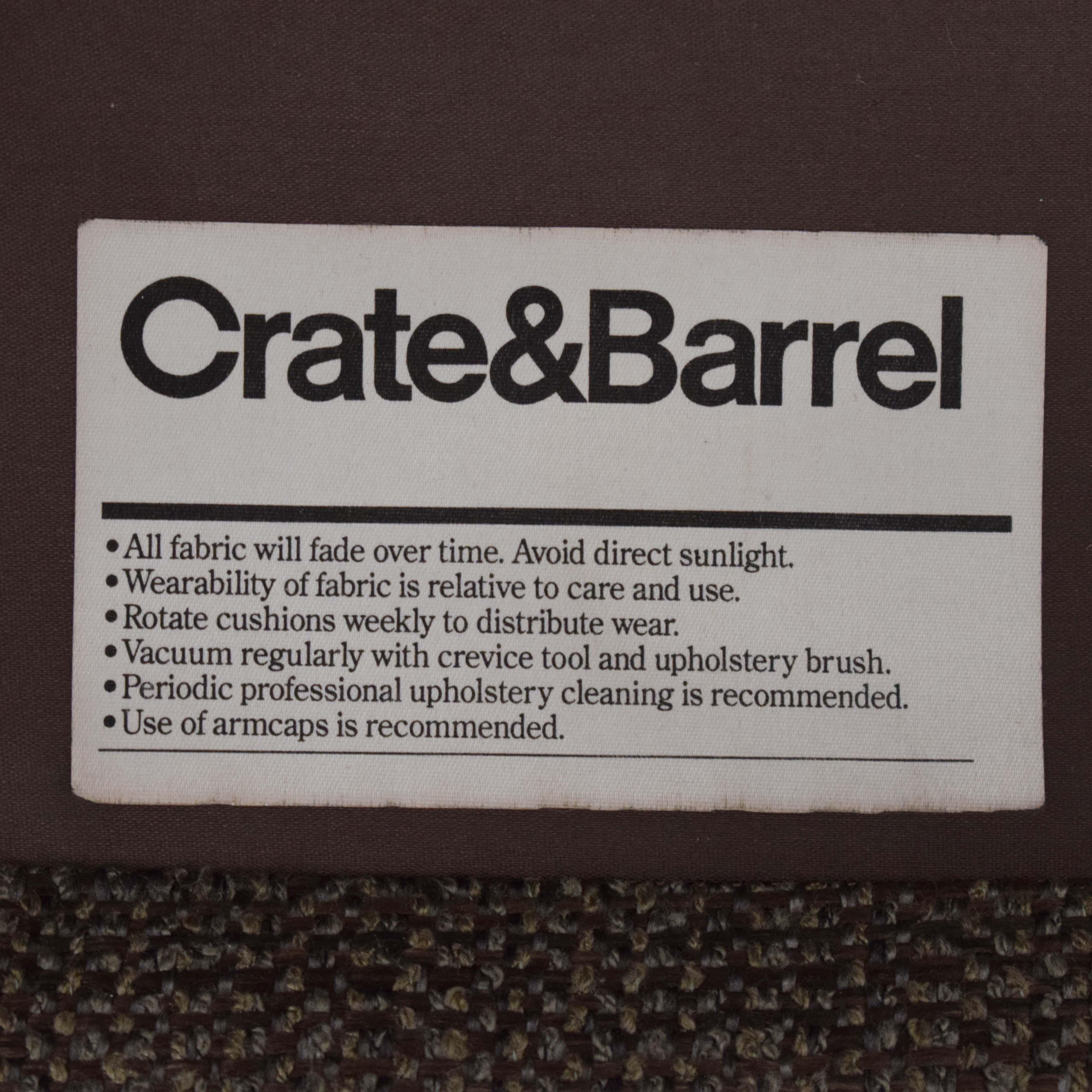 buy Crate & Barrel 3 Seat Sofa Crate & Barrel
