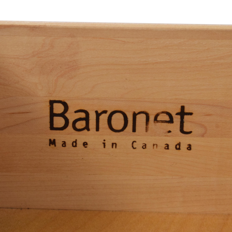 Baronet Baronet Dark Single Drawer Nightstand second hand