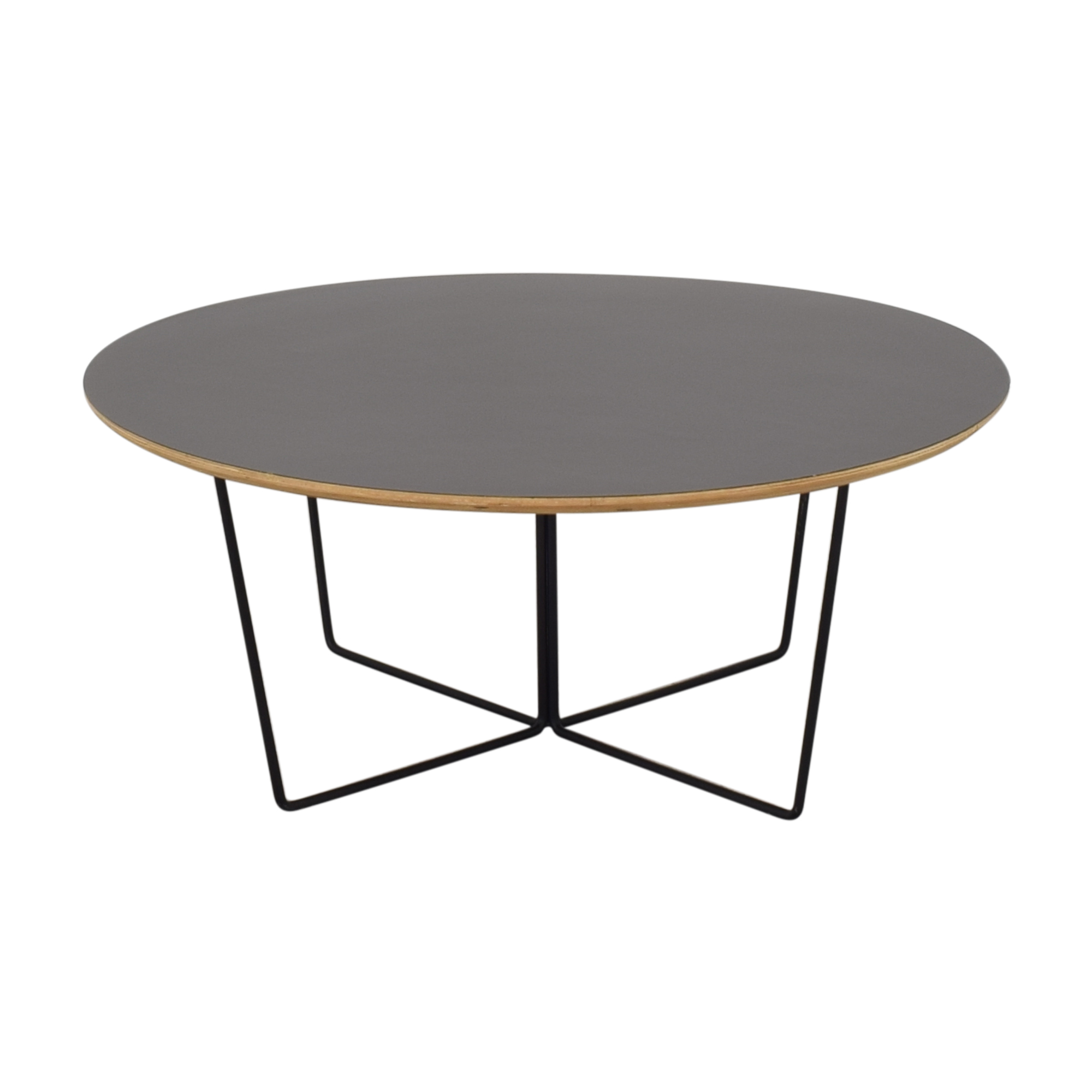 shop GUS* Modern Black Array Round Coffee Table Gus Modern Tables