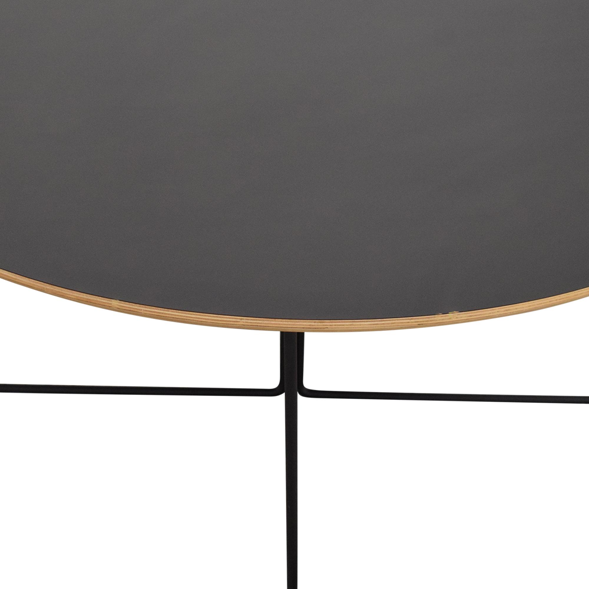 GUS* Modern Black Array Round Coffee Table Gus Modern