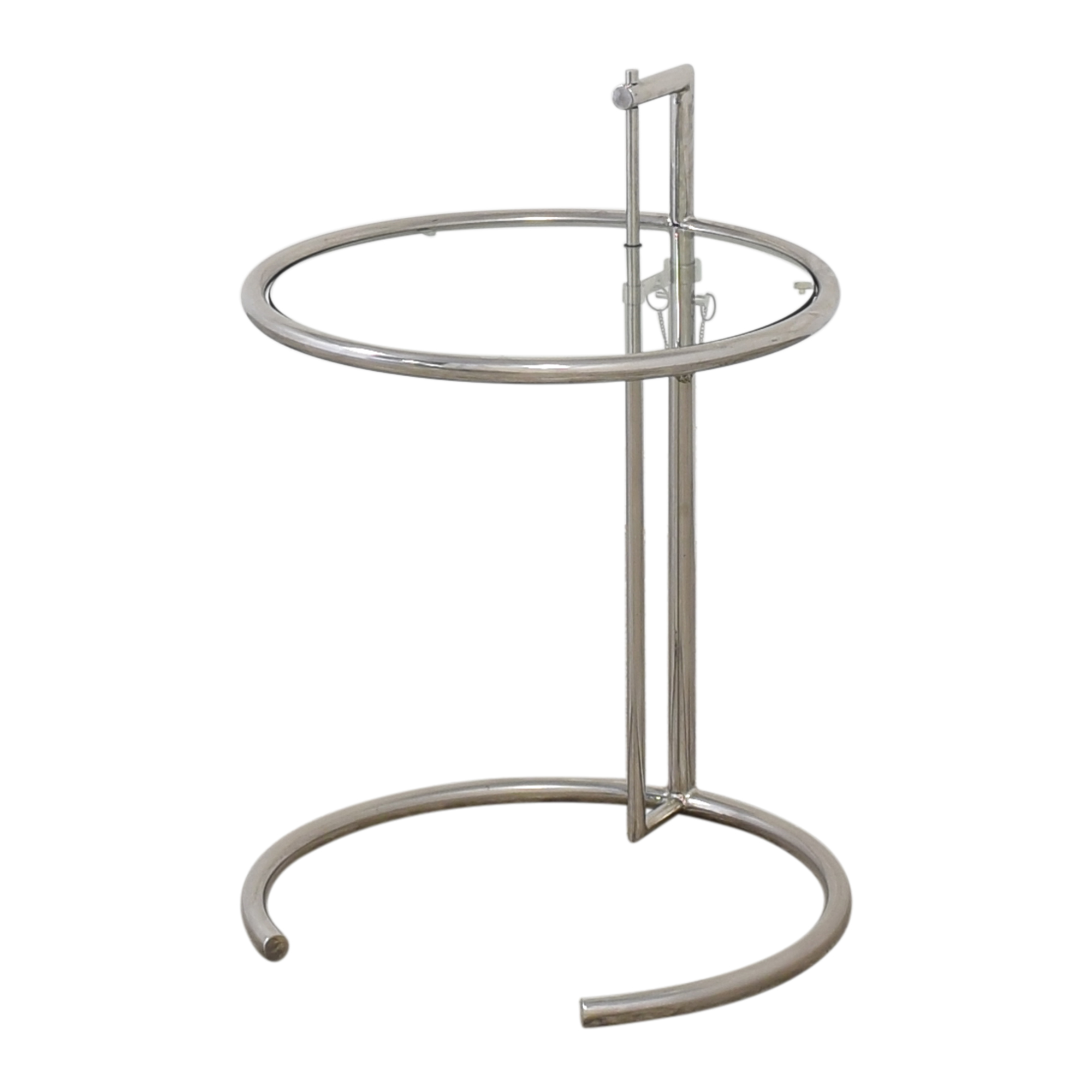 Vintage Eileen Gray-Style Chrome & Glass Side Table on sale