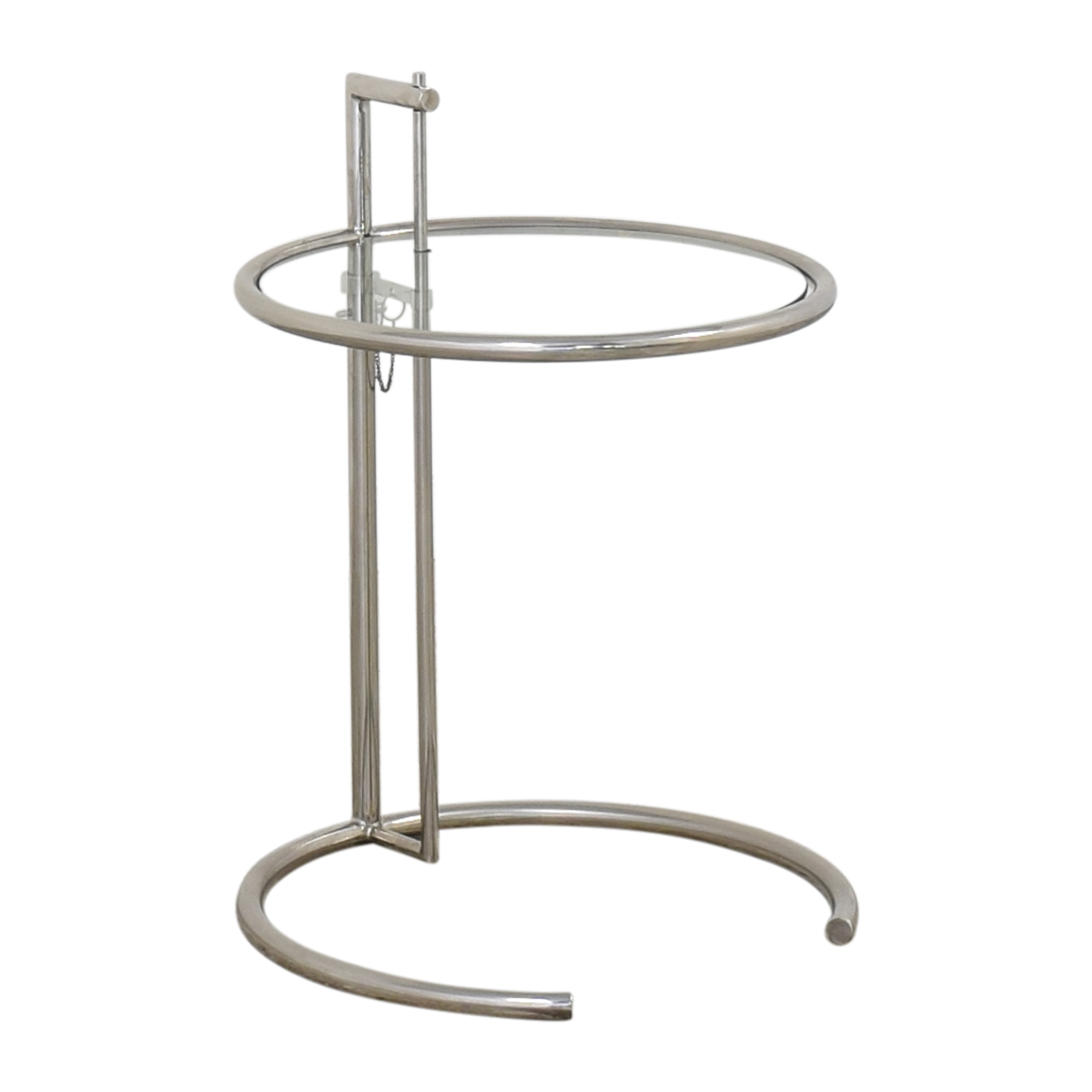buy Vintage Eileen Gray-Style Chrome & Glass Side Table