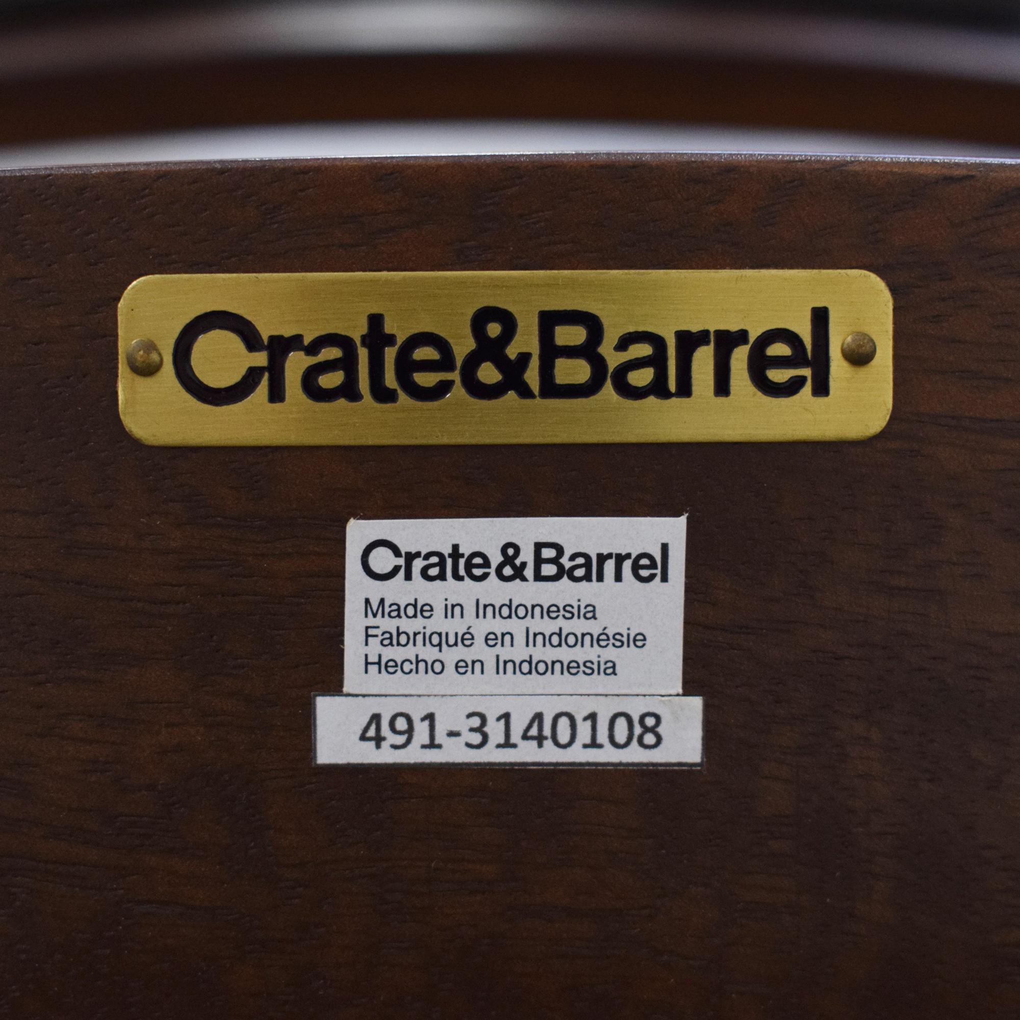 Crate & Barrel Crate & Barrel Elston Swivel Bar Stool ct