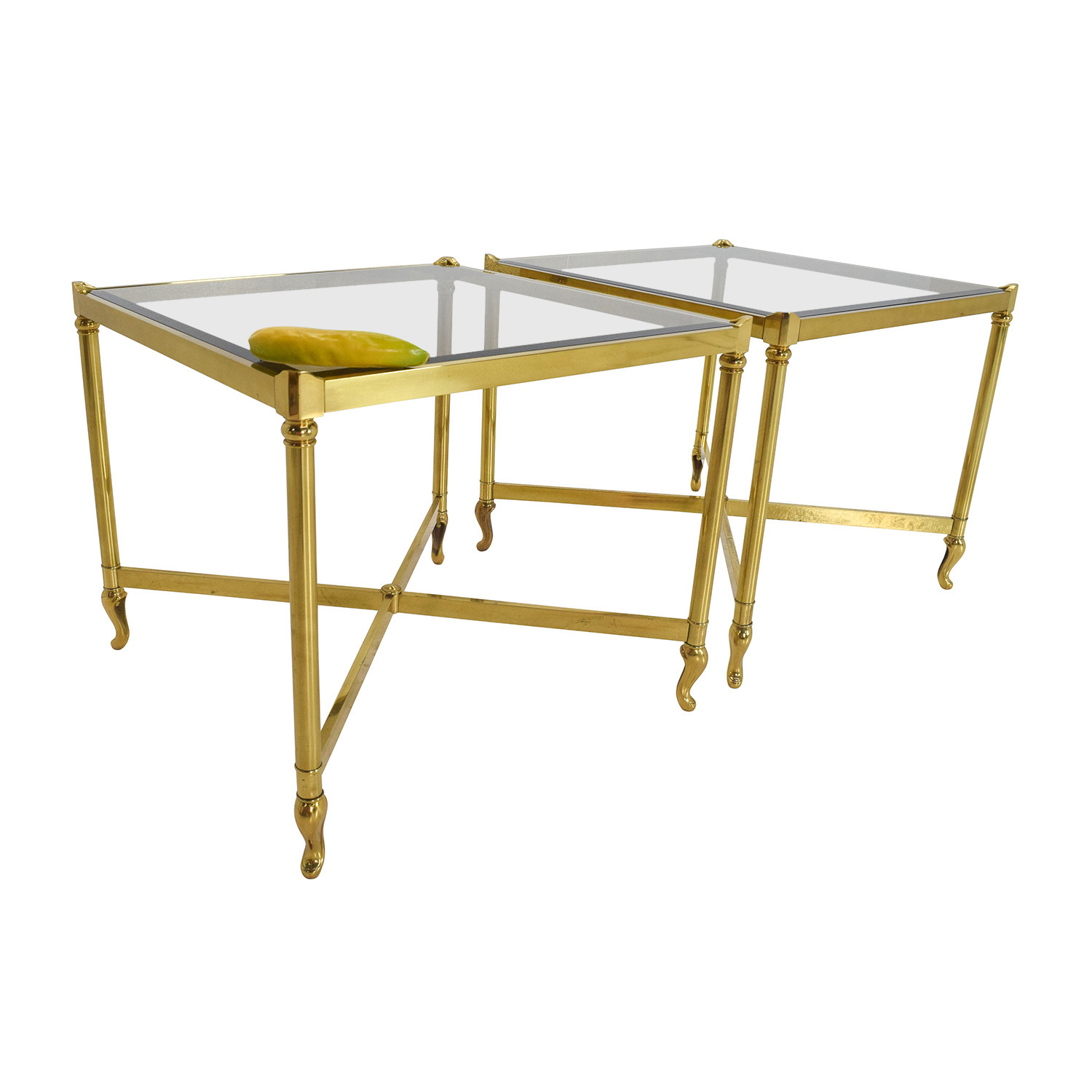 OFF Antique Antique Brass Side Tables Tables - Brushed brass side table