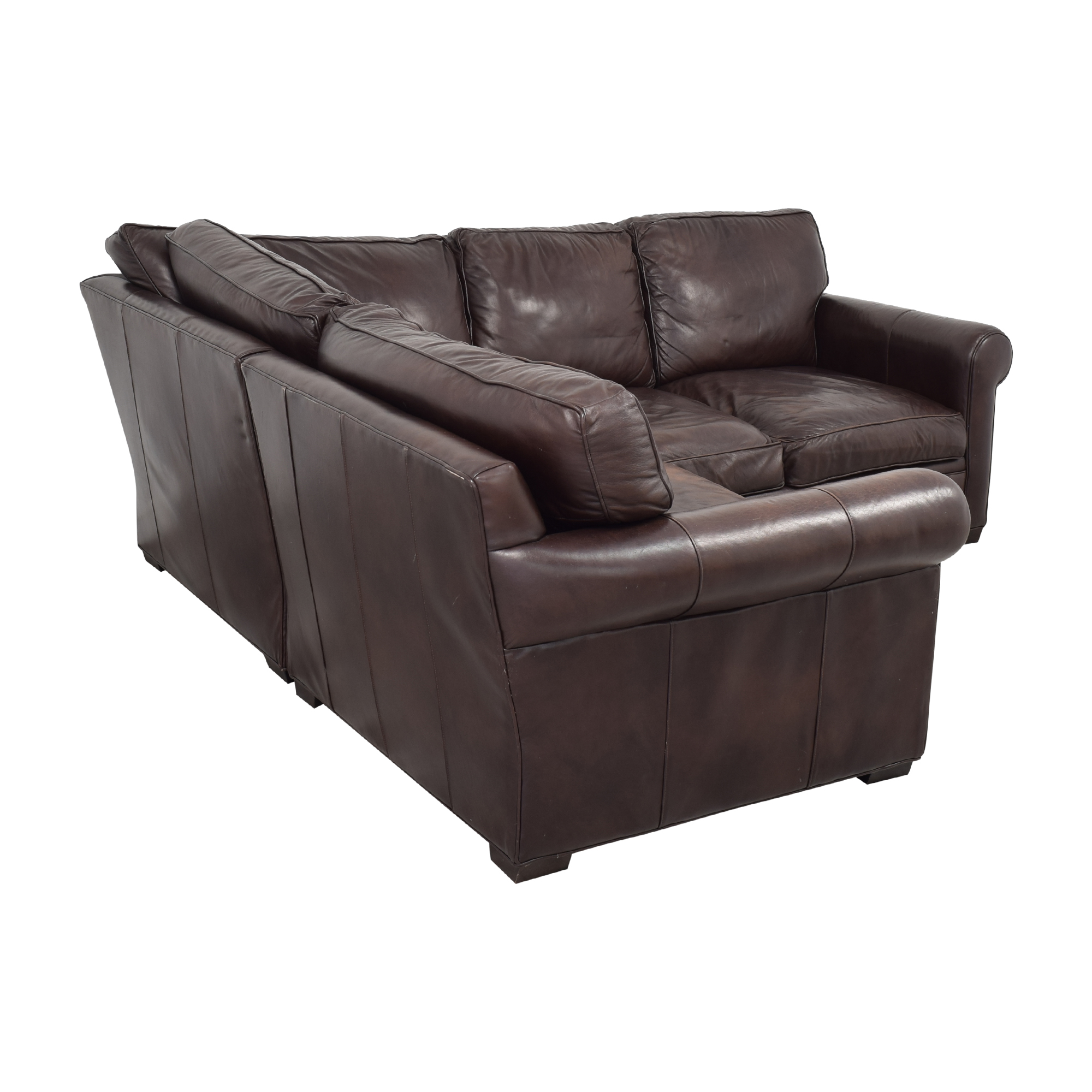 Crate & Barrel L-Shaped Sectional Sofa / Sectionals