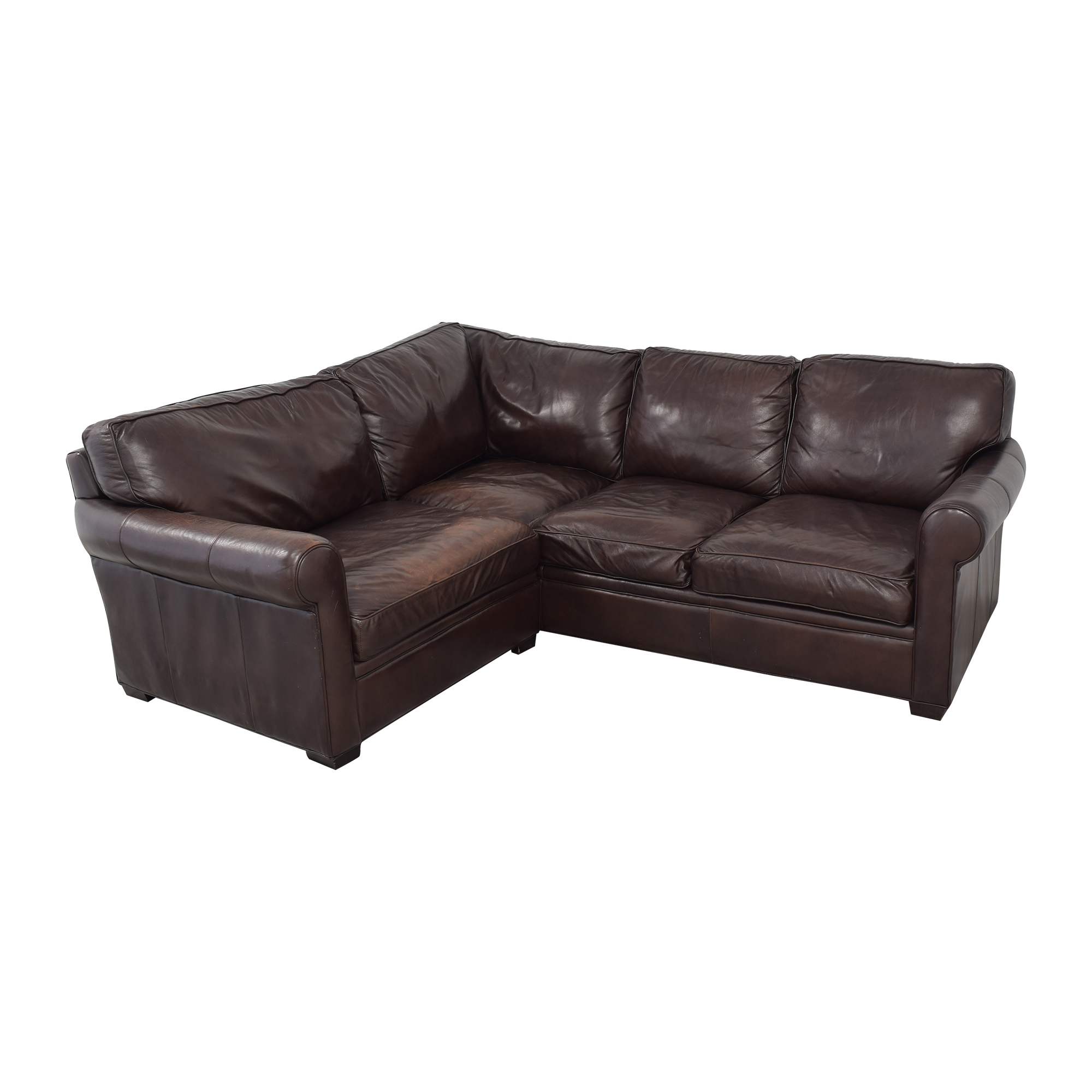 Crate & Barrel Crate & Barrel L-Shaped Sectional Sofa for sale