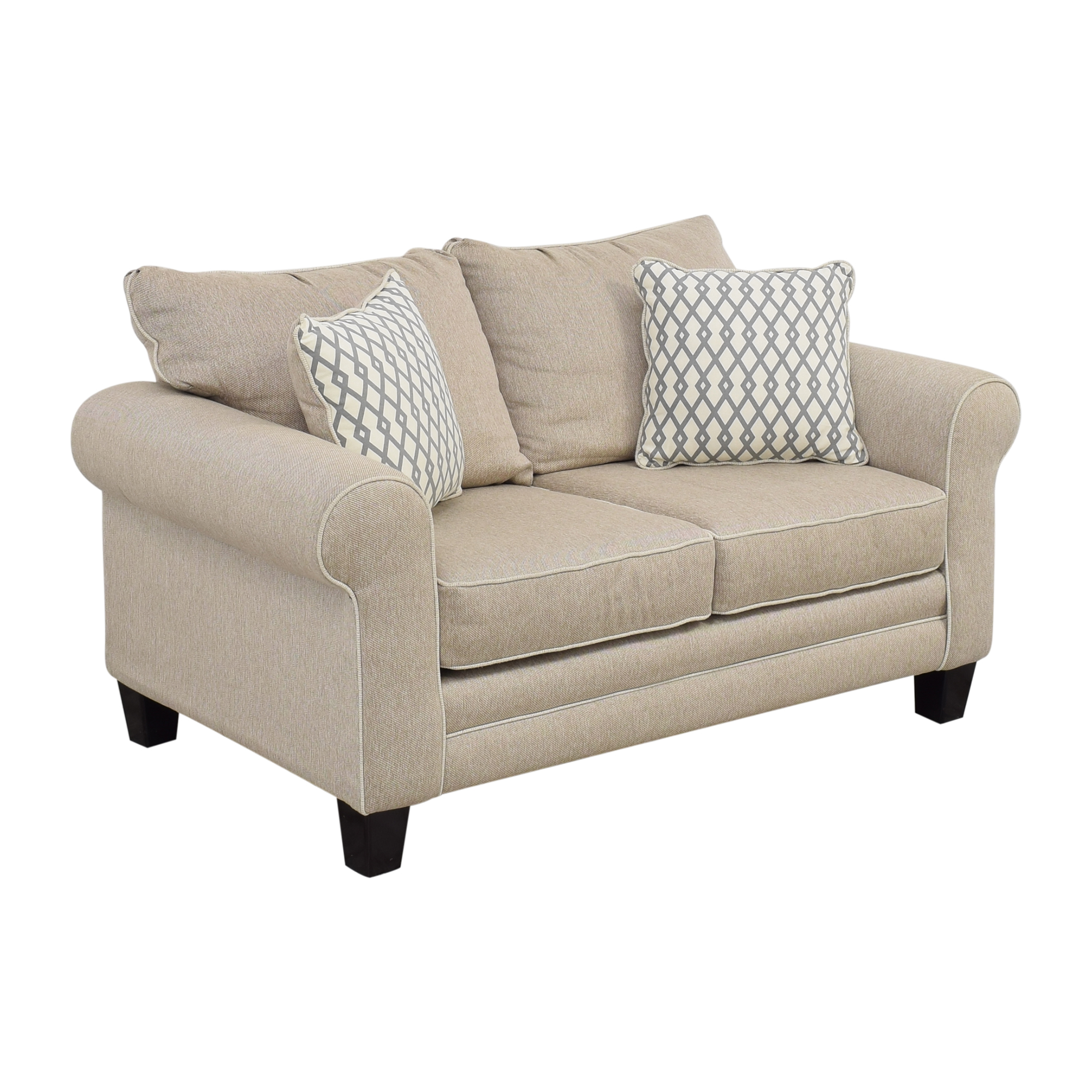 Raymour & Flanigan Raymour & Flanigan Beige Loveseat used