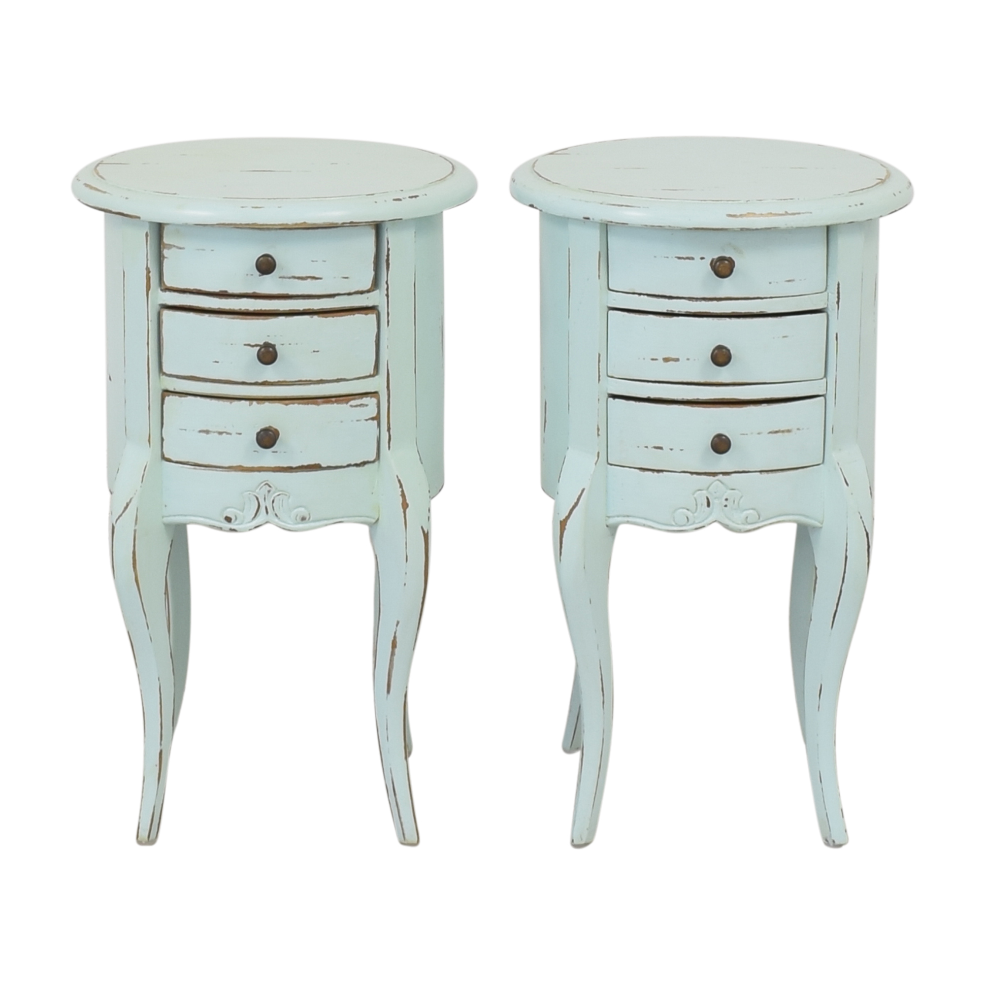 Vintage Weathered Nightstands / End Tables
