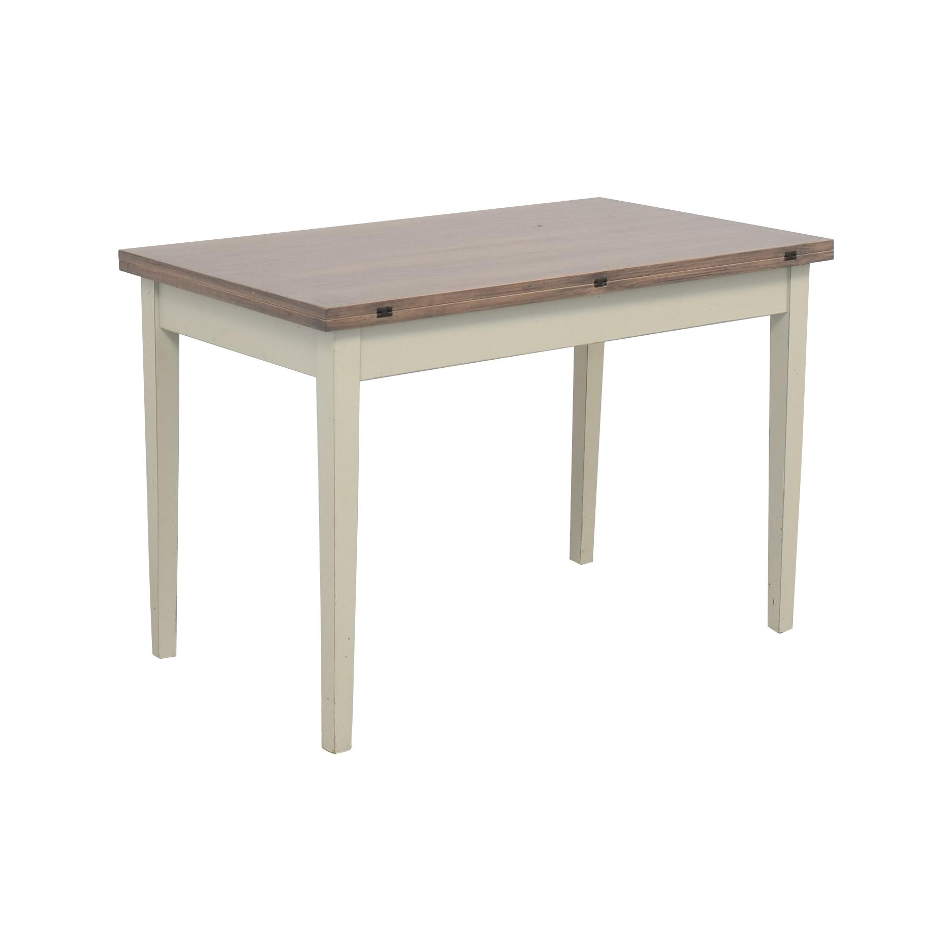 Crate & Barrel Crate & Barrel Flip Table grey