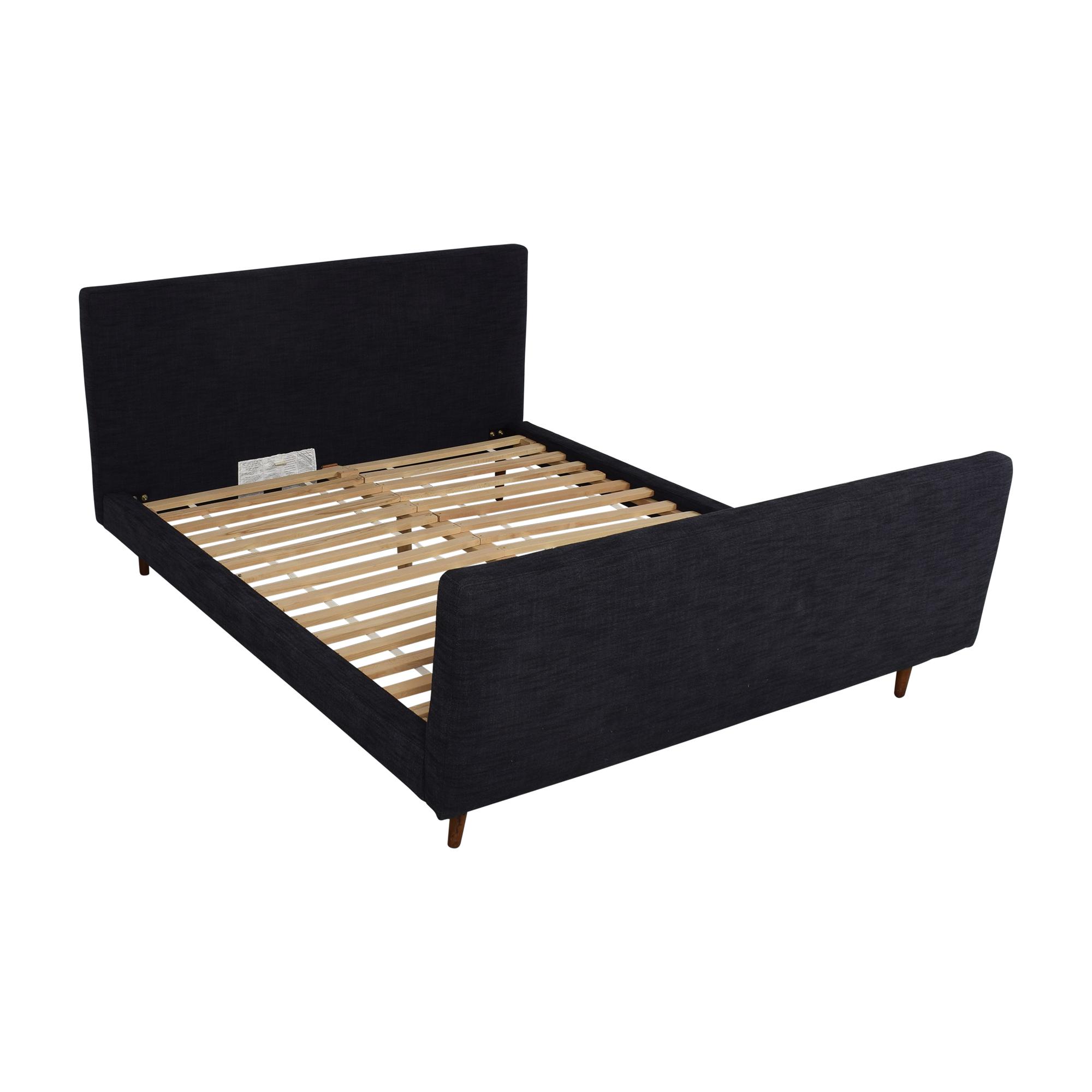 buy West Elm West Elm Queen Upholstered Bed with Footboard online