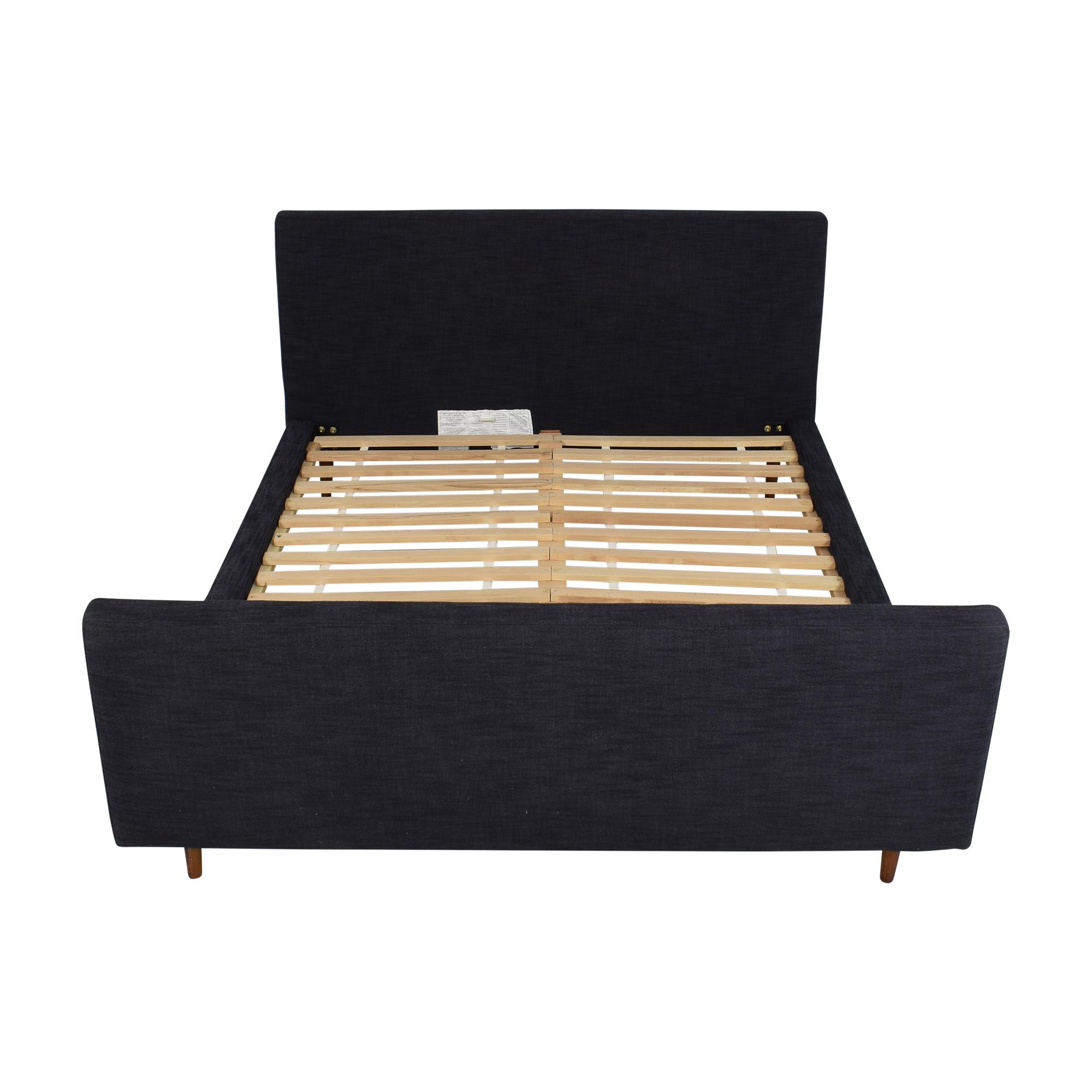 buy West Elm Queen Upholstered Bed with Footboard West Elm Beds