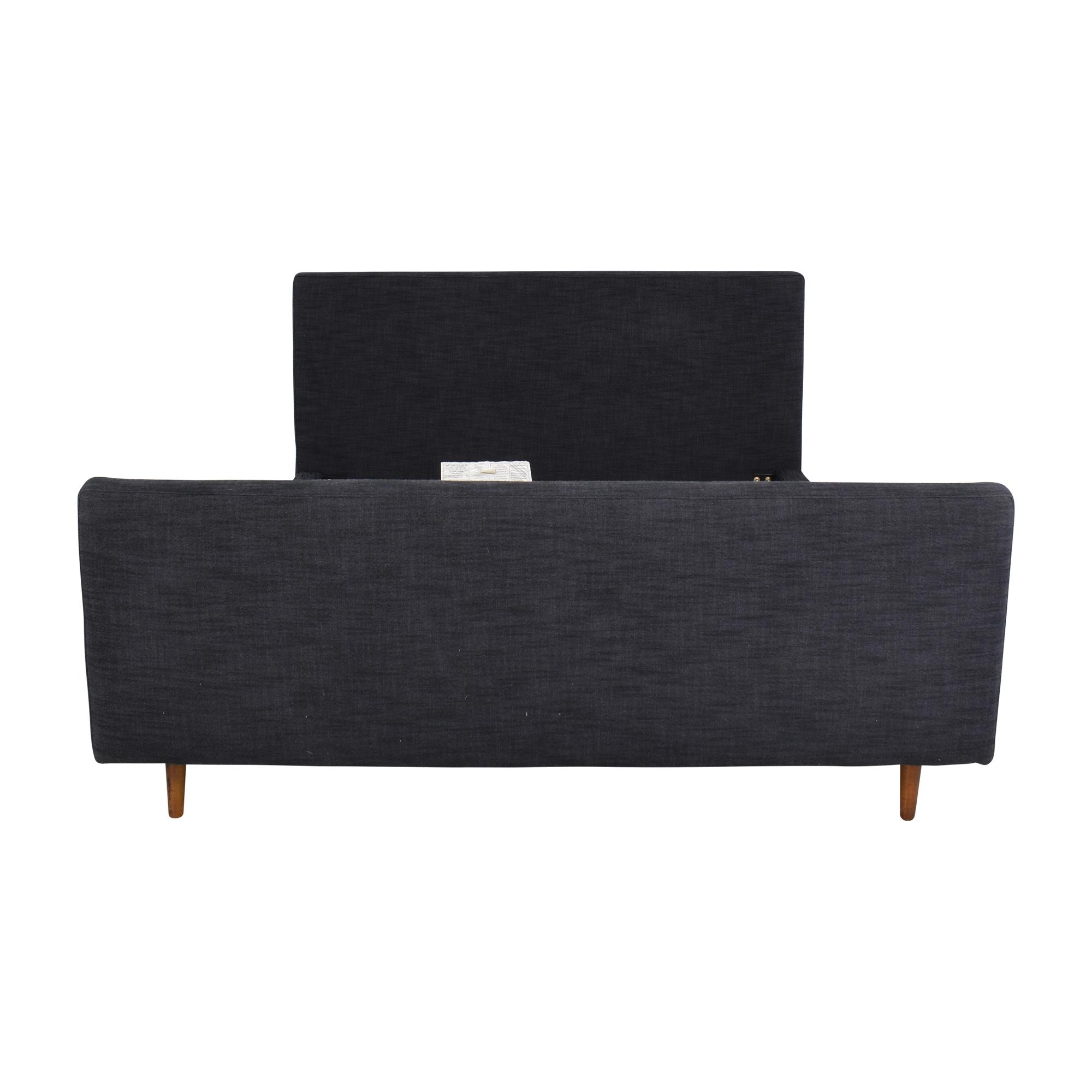 shop West Elm Queen Upholstered Bed with Footboard West Elm Bed Frames