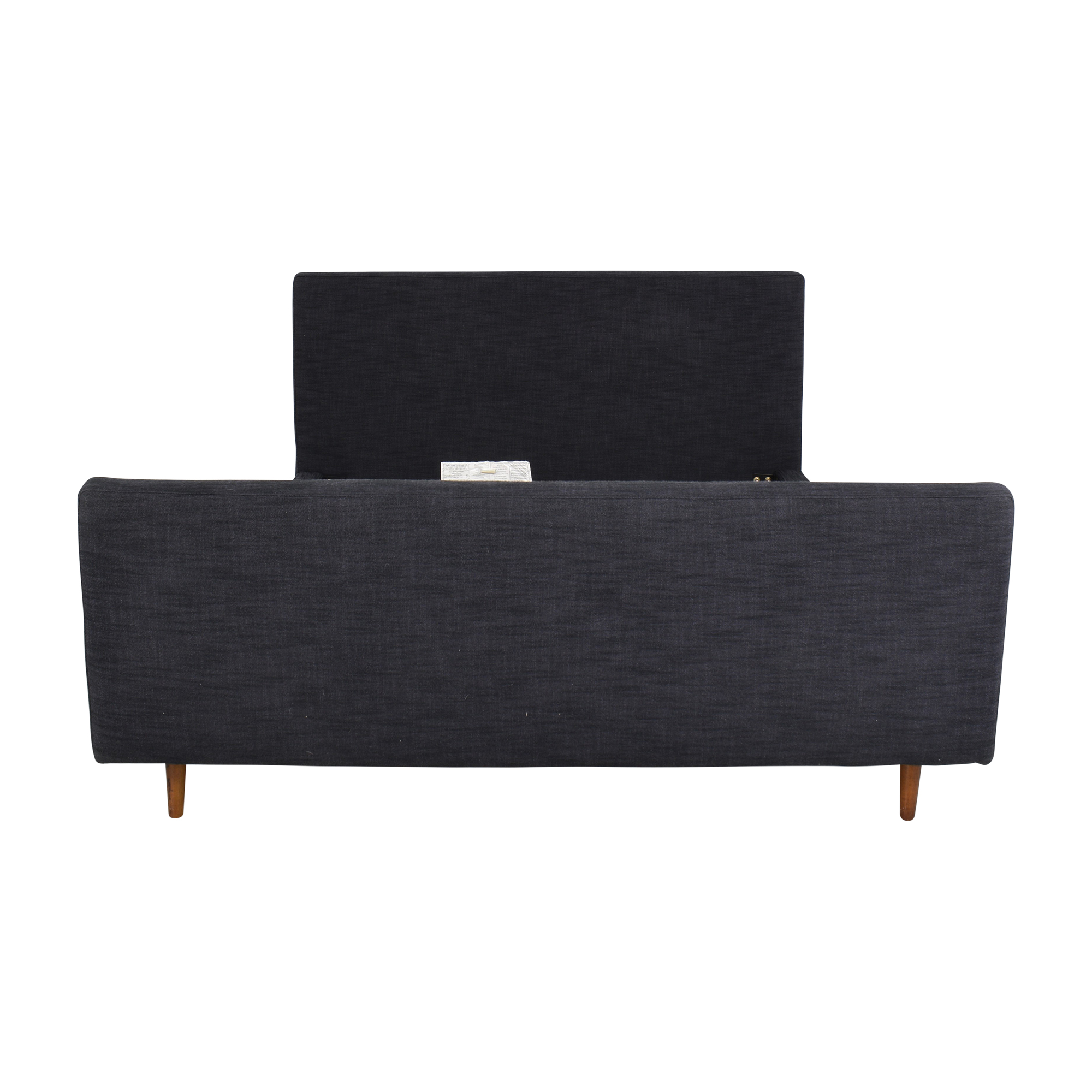 buy West Elm Queen Upholstered Bed with Footboard West Elm Bed Frames