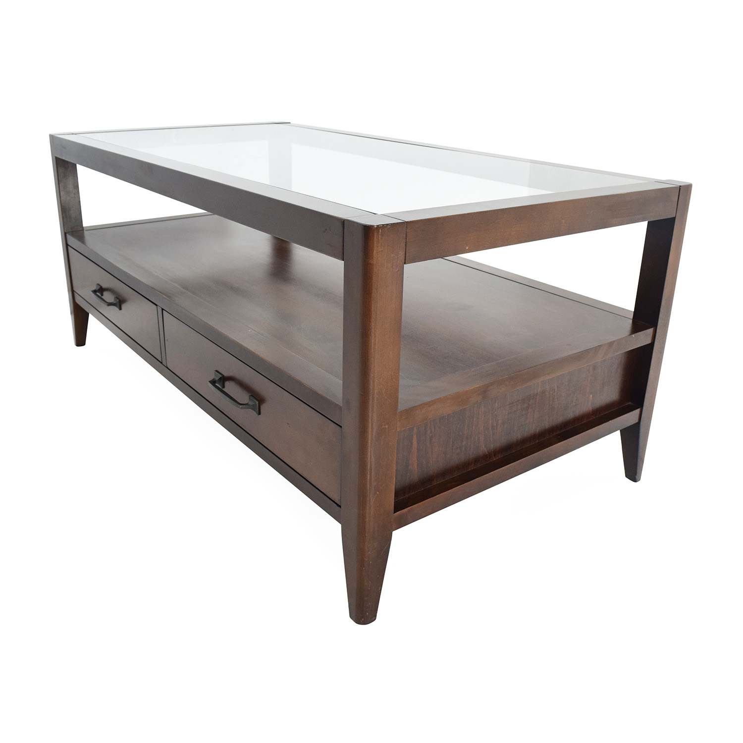 60 Off Unknown Brand Glass Top Coffee Table Tables
