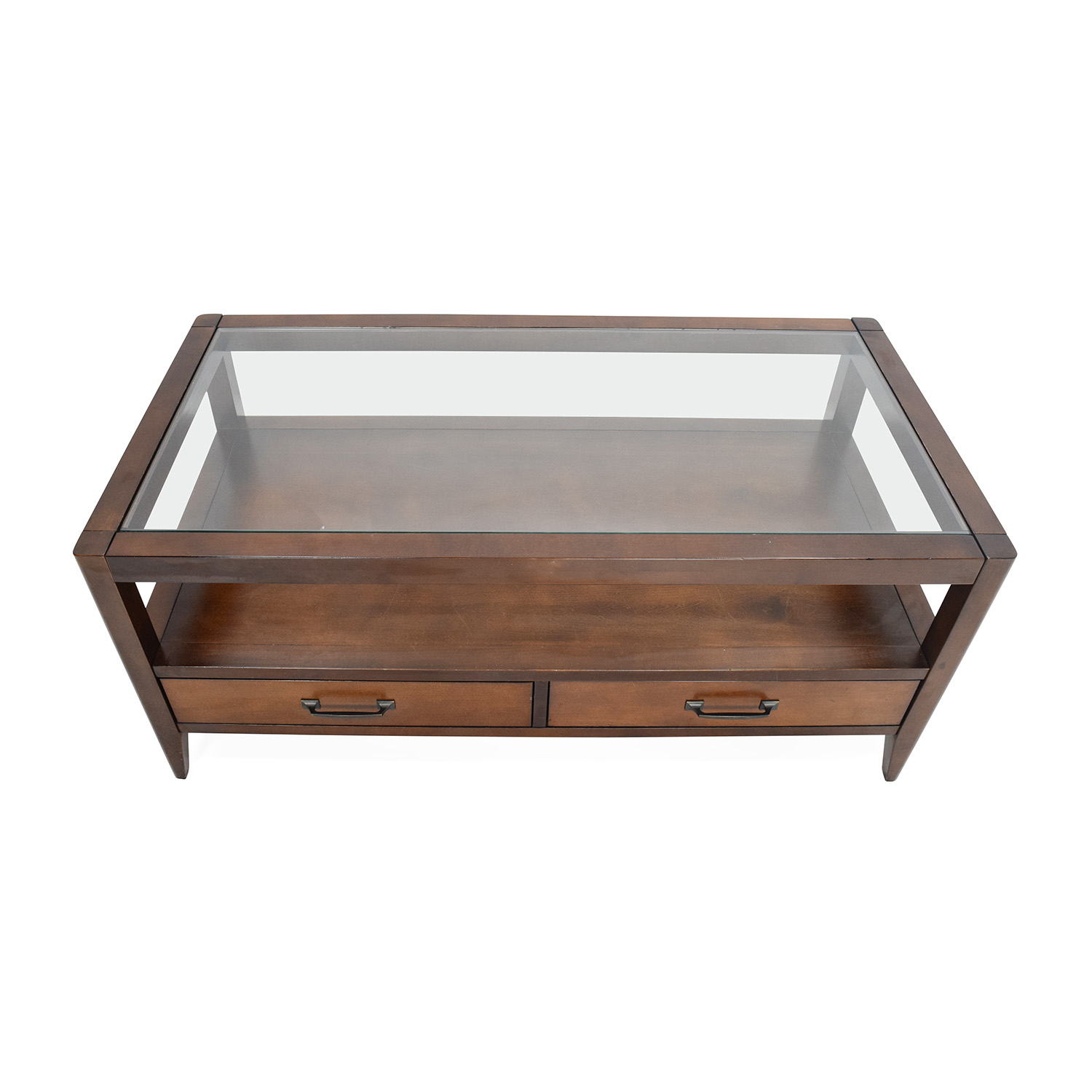 Unknown Brand Glass Top Coffee Table For Sale