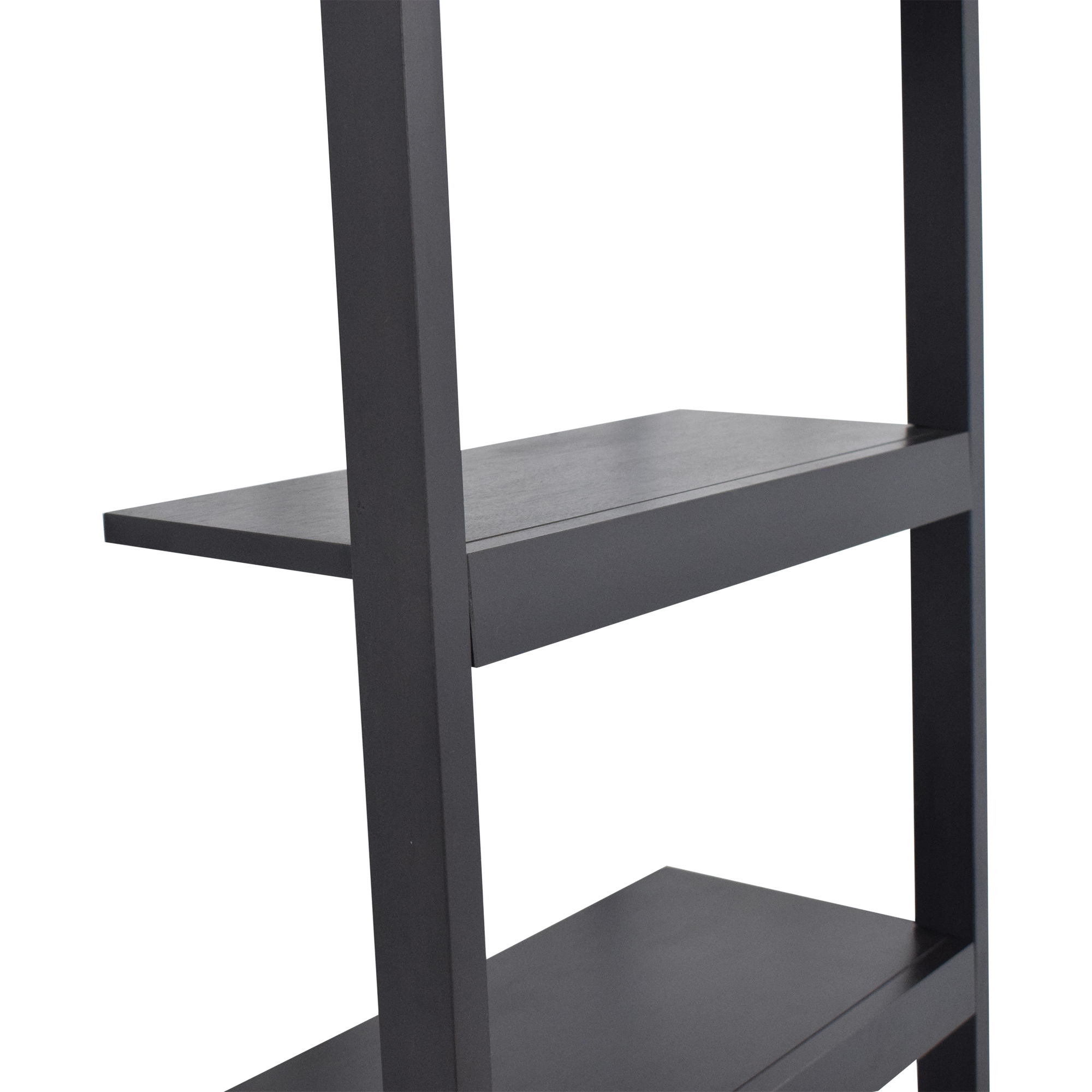 Crate & Barrel Sloane Black Leaning Bookshelf / Storage