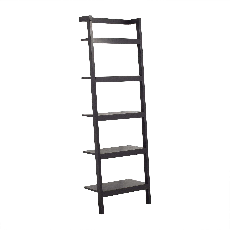 buy Crate & Barrel Sloane Black Leaning Bookshelf Crate & Barrel Bookcases & Shelving