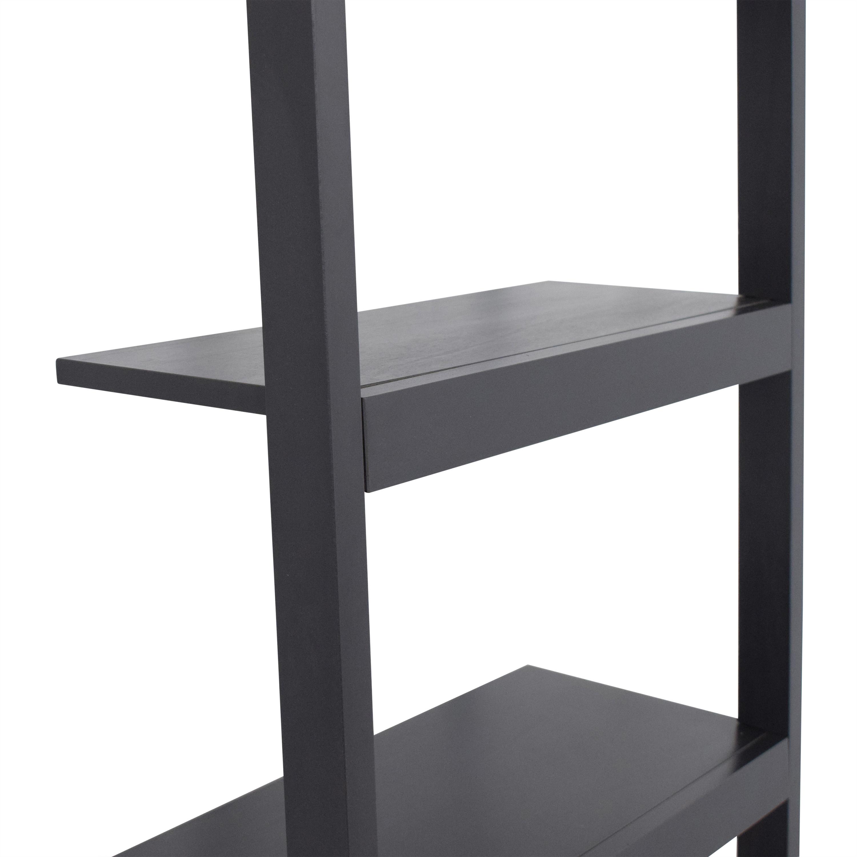 Crate & Barrel Crate & Barrel Sloane Black Leaning Bookshelf Bookcases & Shelving