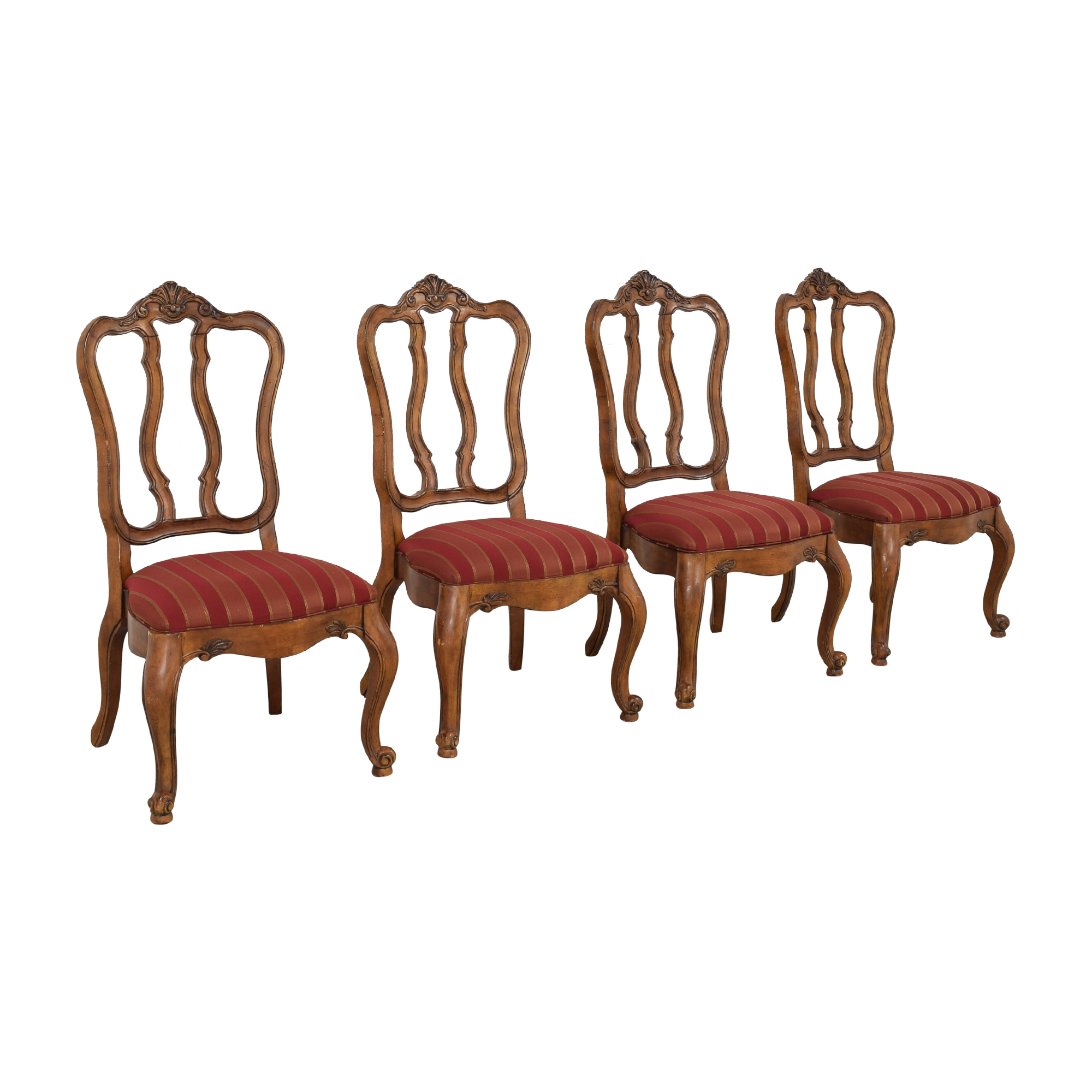 Ethan Allen Ethan Allen Tuscany Augustine Dining Chairs red and brown