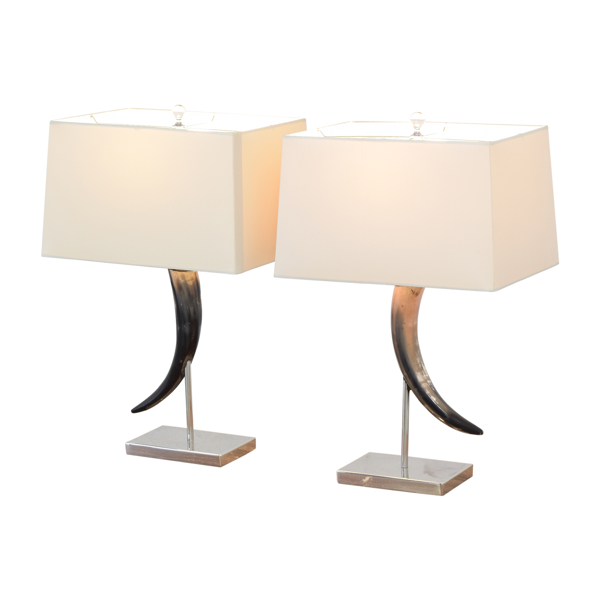 Horn Table Lamps used