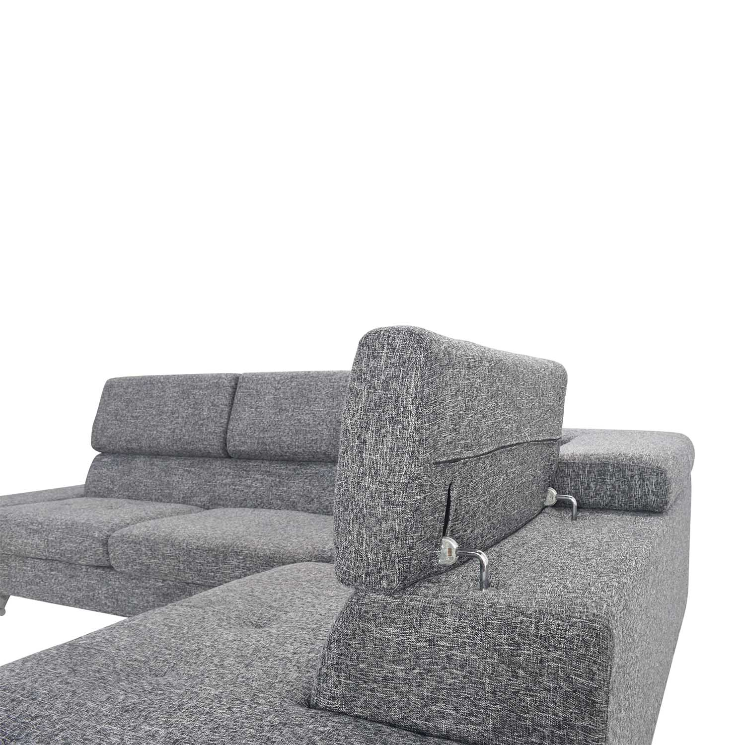 Gray Sectional Entertainment Couch sale