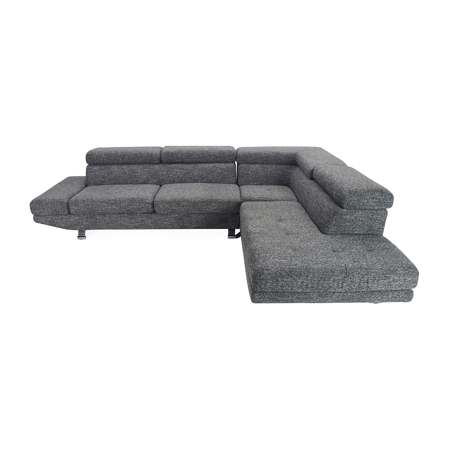 Gray Sectional Entertainment Couch Unknown brand