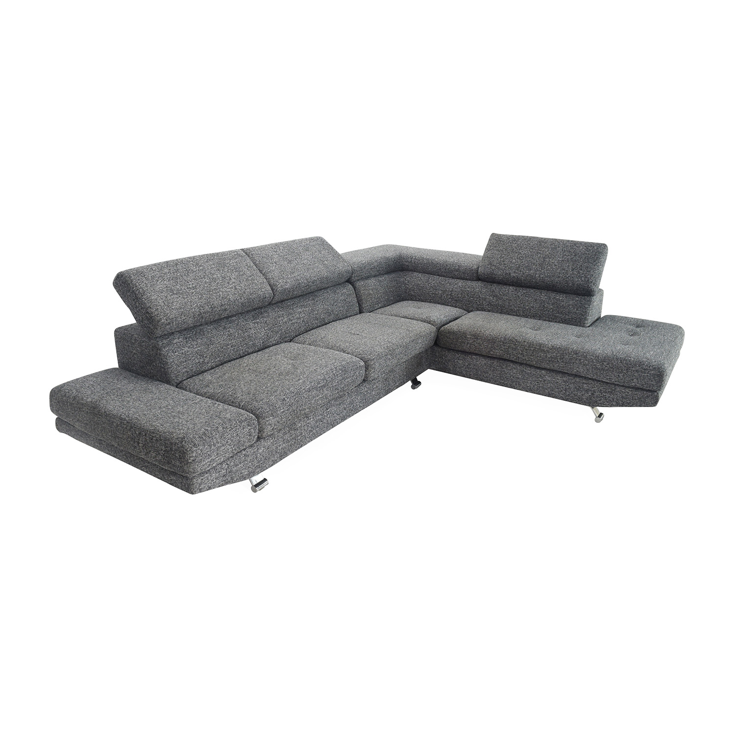 Unknown brand Gray Sectional Entertainment Couch second hand