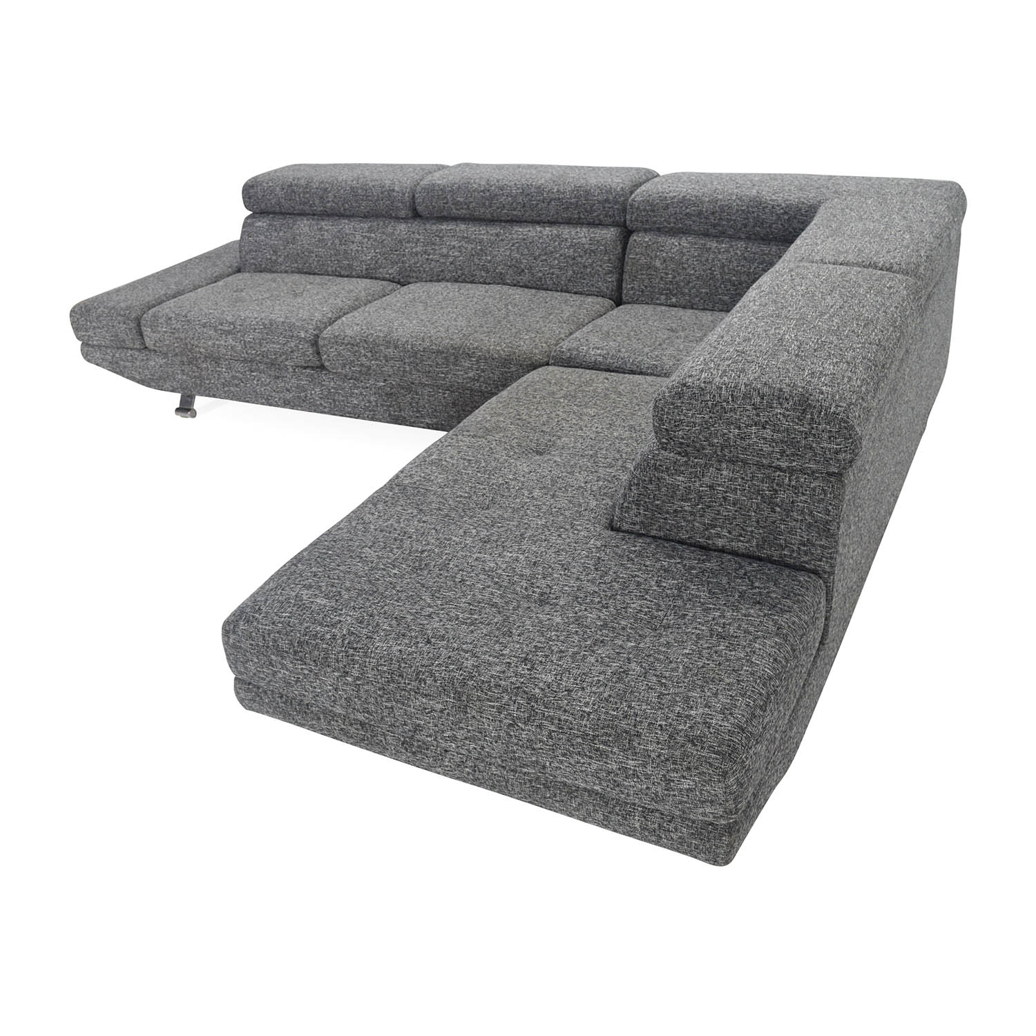 shop Gray Sectional Entertainment Couch Unknown brand Sofas