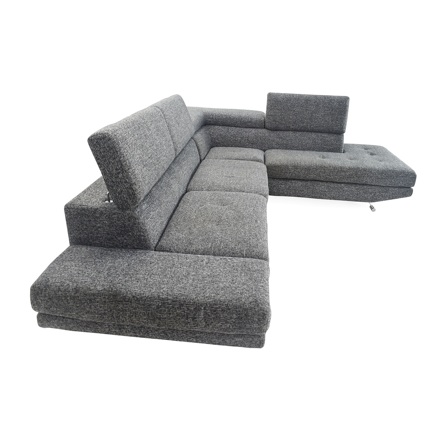 Unknown brand Gray Sectional Entertainment Couch price