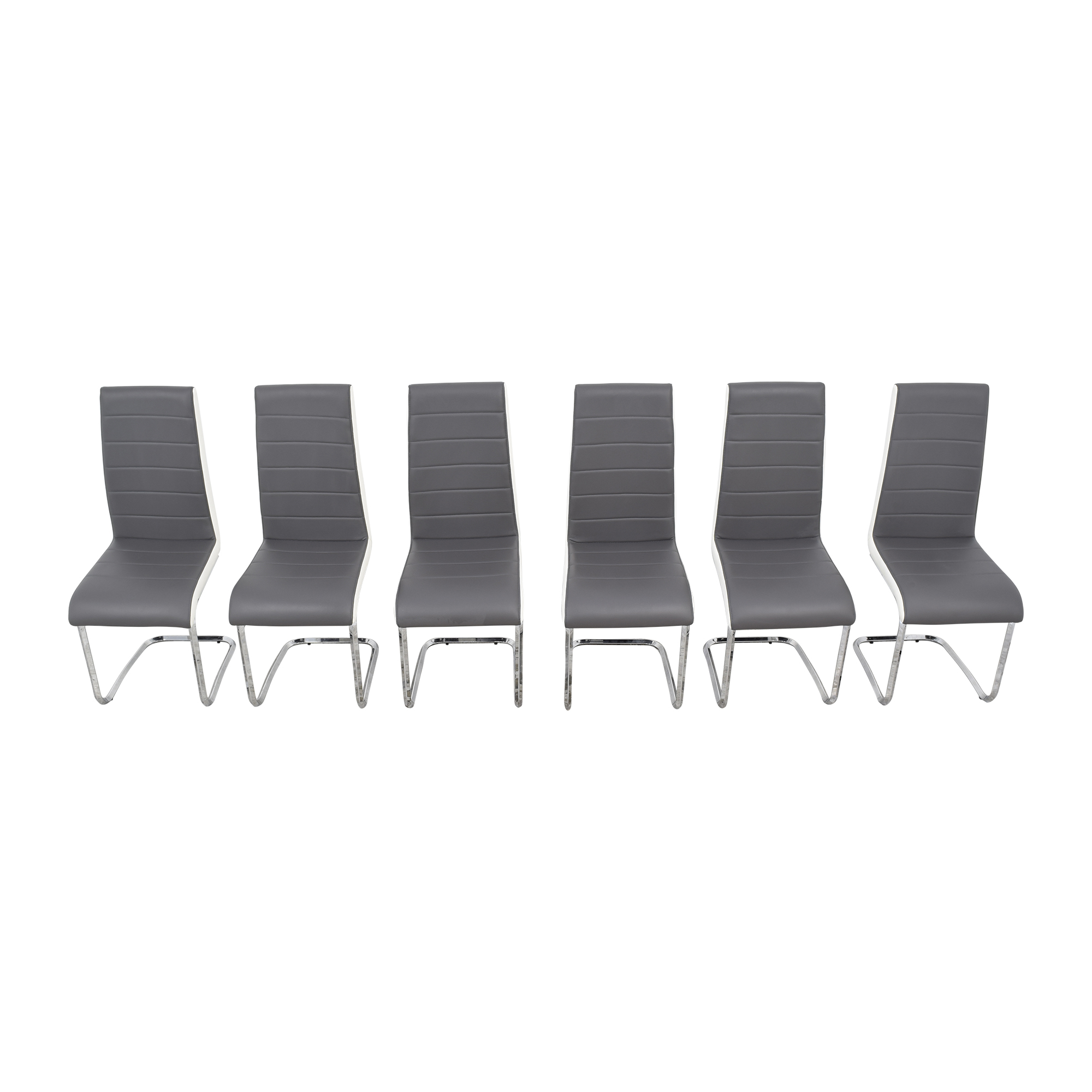 Steve Silver Gray and White Retro Dining Chairs Steve Silver Co
