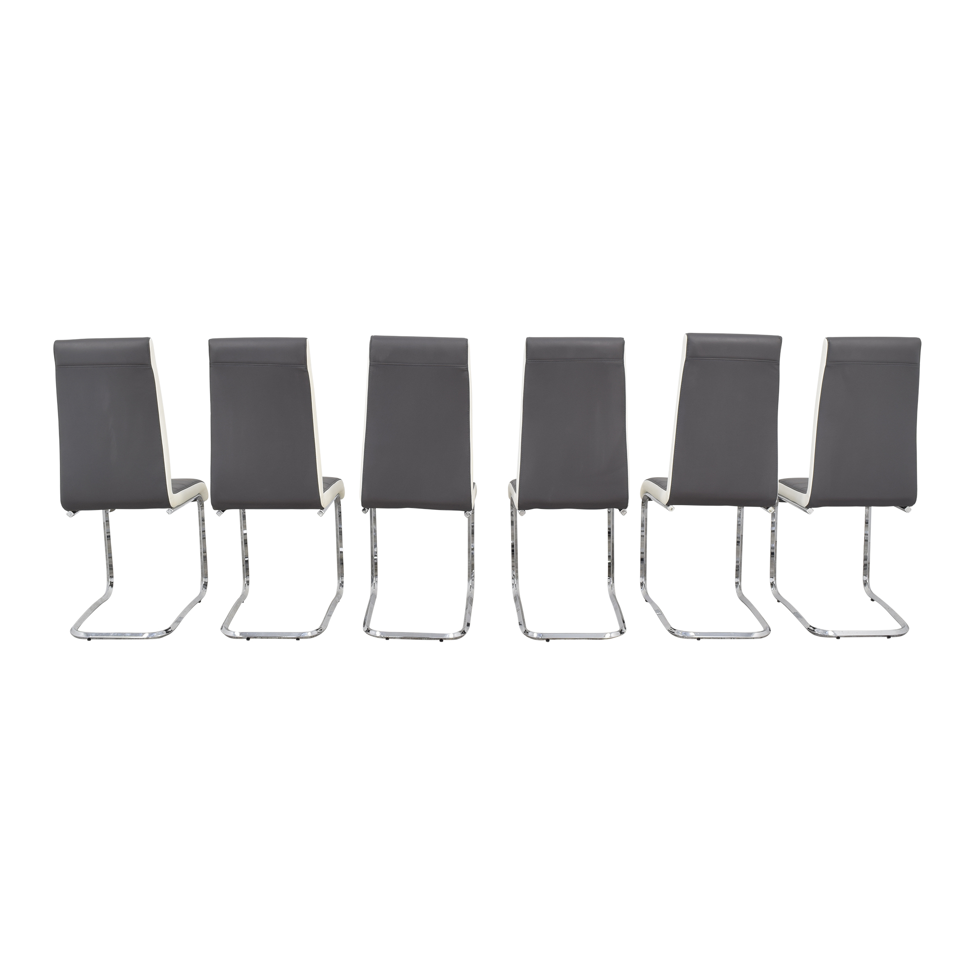 Steve Silver Co Steve Silver Gray and White Retro Dining Chairs pa